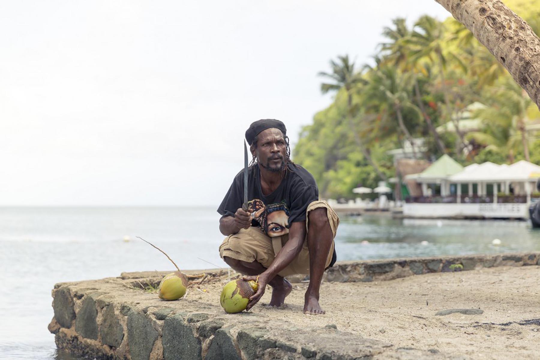 Richard Wadey Man with Fresh Coconuts