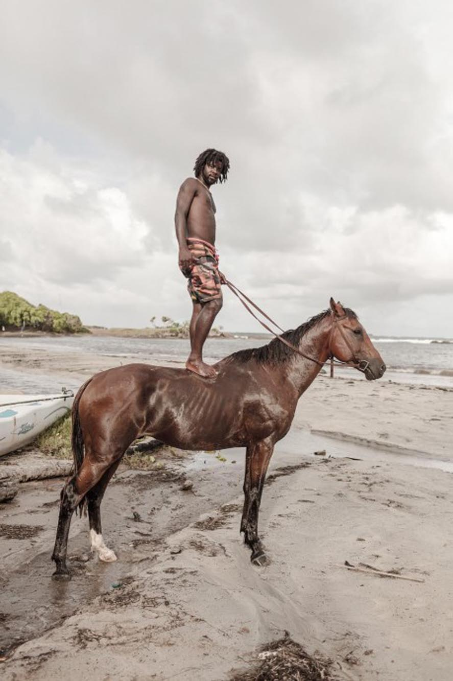 Richard Wadey Man Standing on Horse