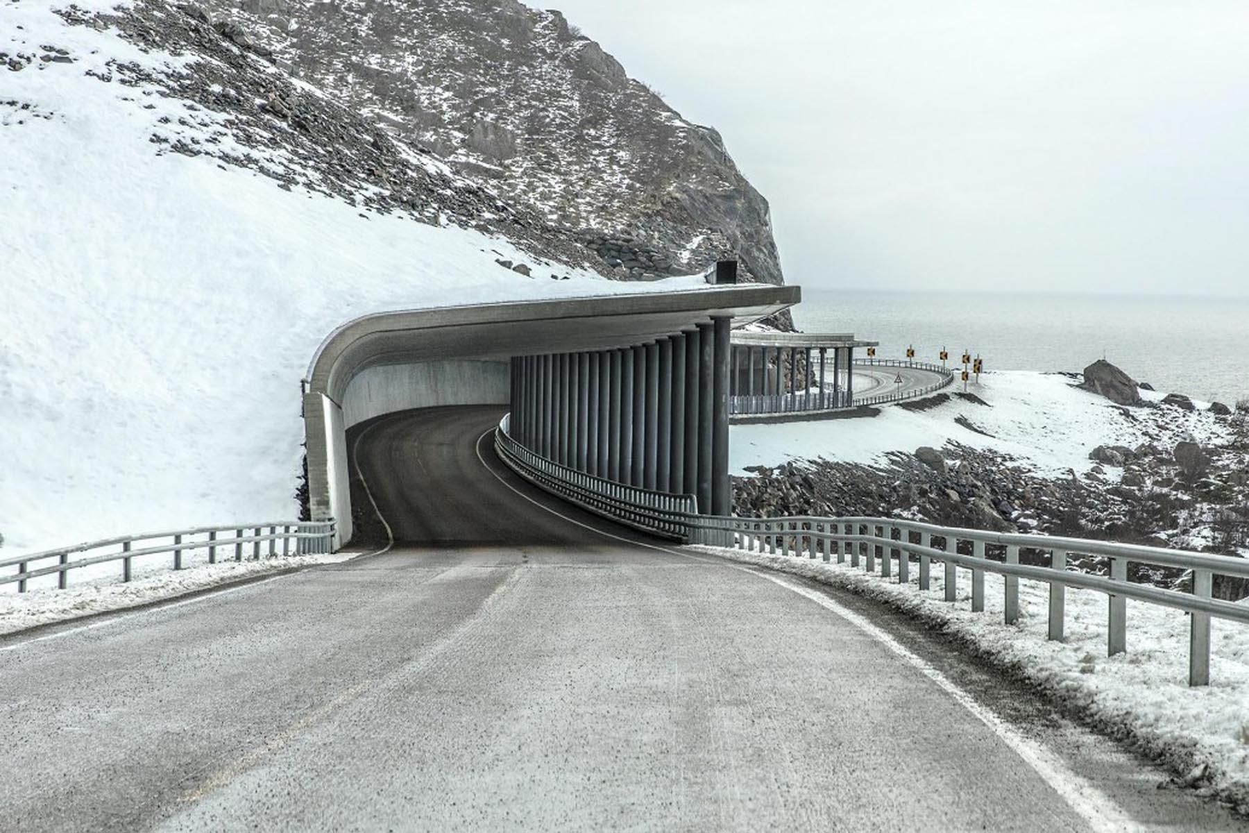 Richard Wadey Coastal Road in Winter