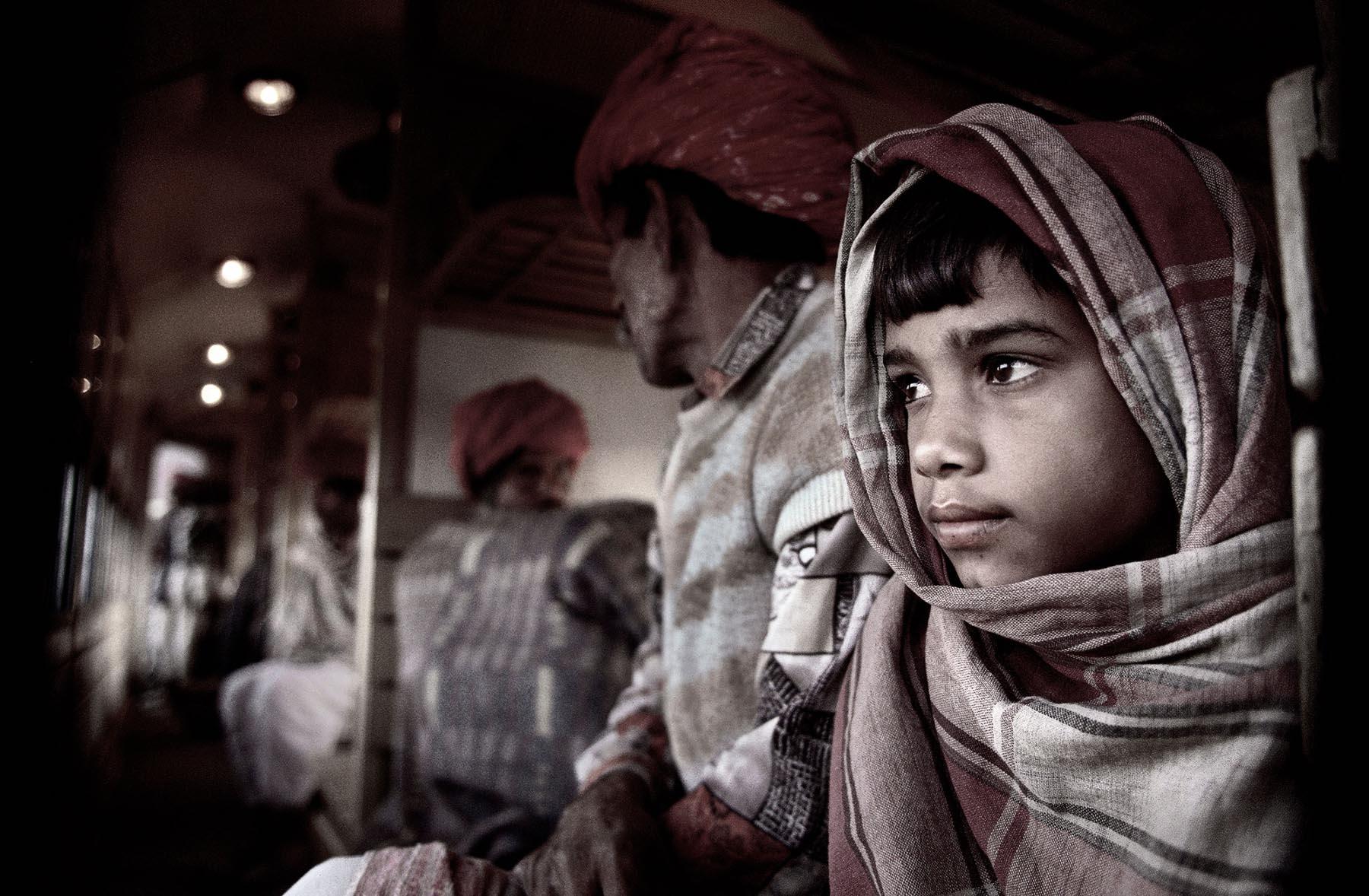 Nigel Harniman Boy on a Train India