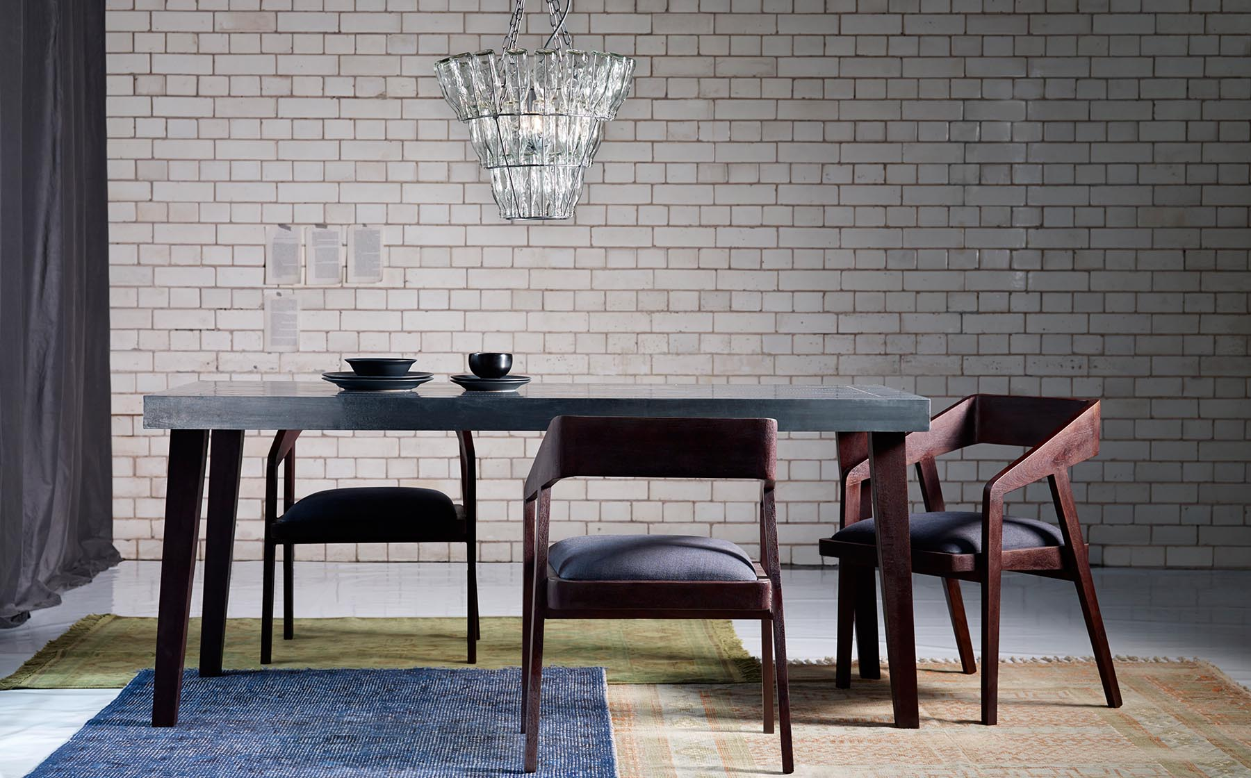 Graham Atkins-Hughes Dining Table & 3 Chairs
