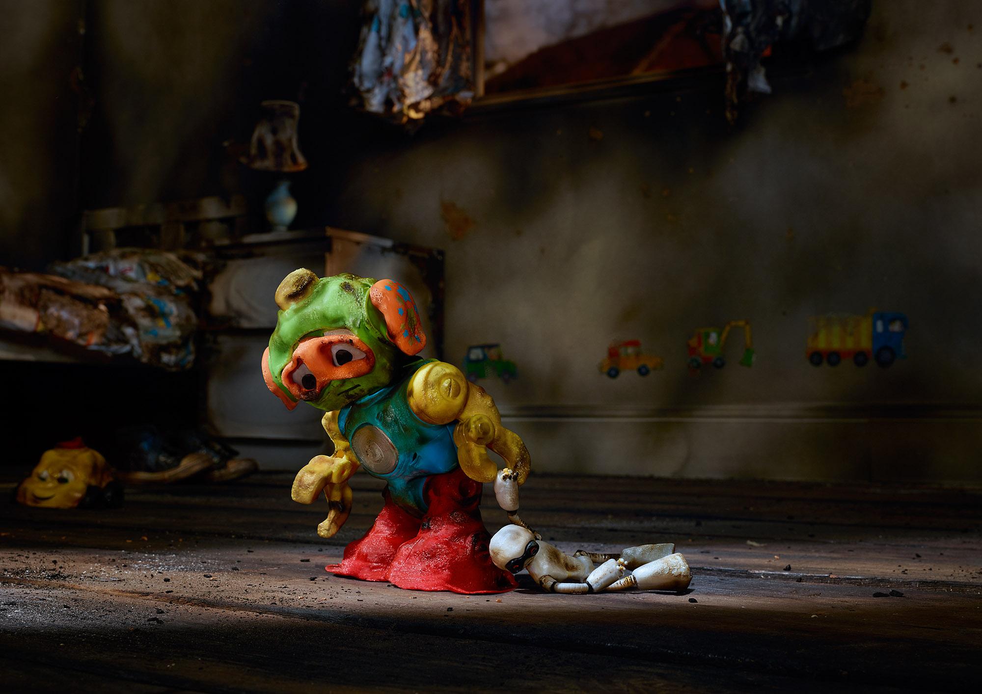 Tal Silverman Fire Damage Plastic Toys