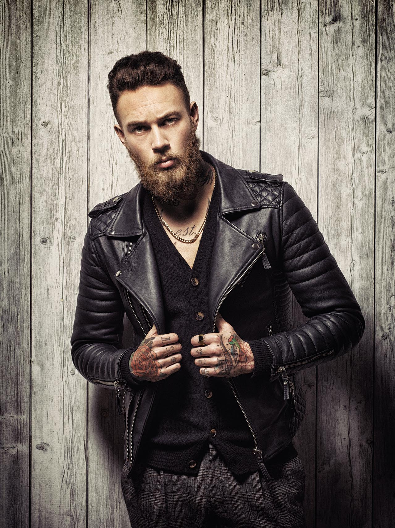 Joe Giacomet - Young man in leather jacket