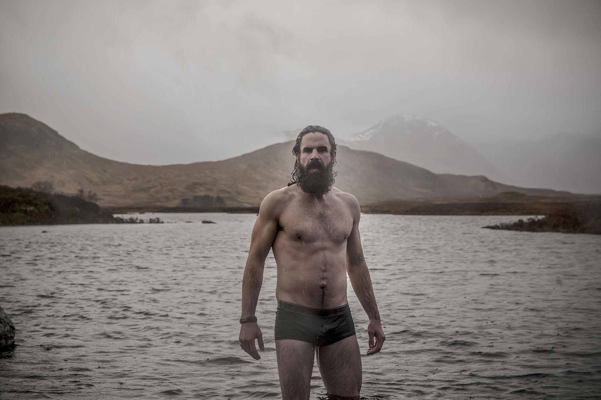 Richard Wadey - Man in lake