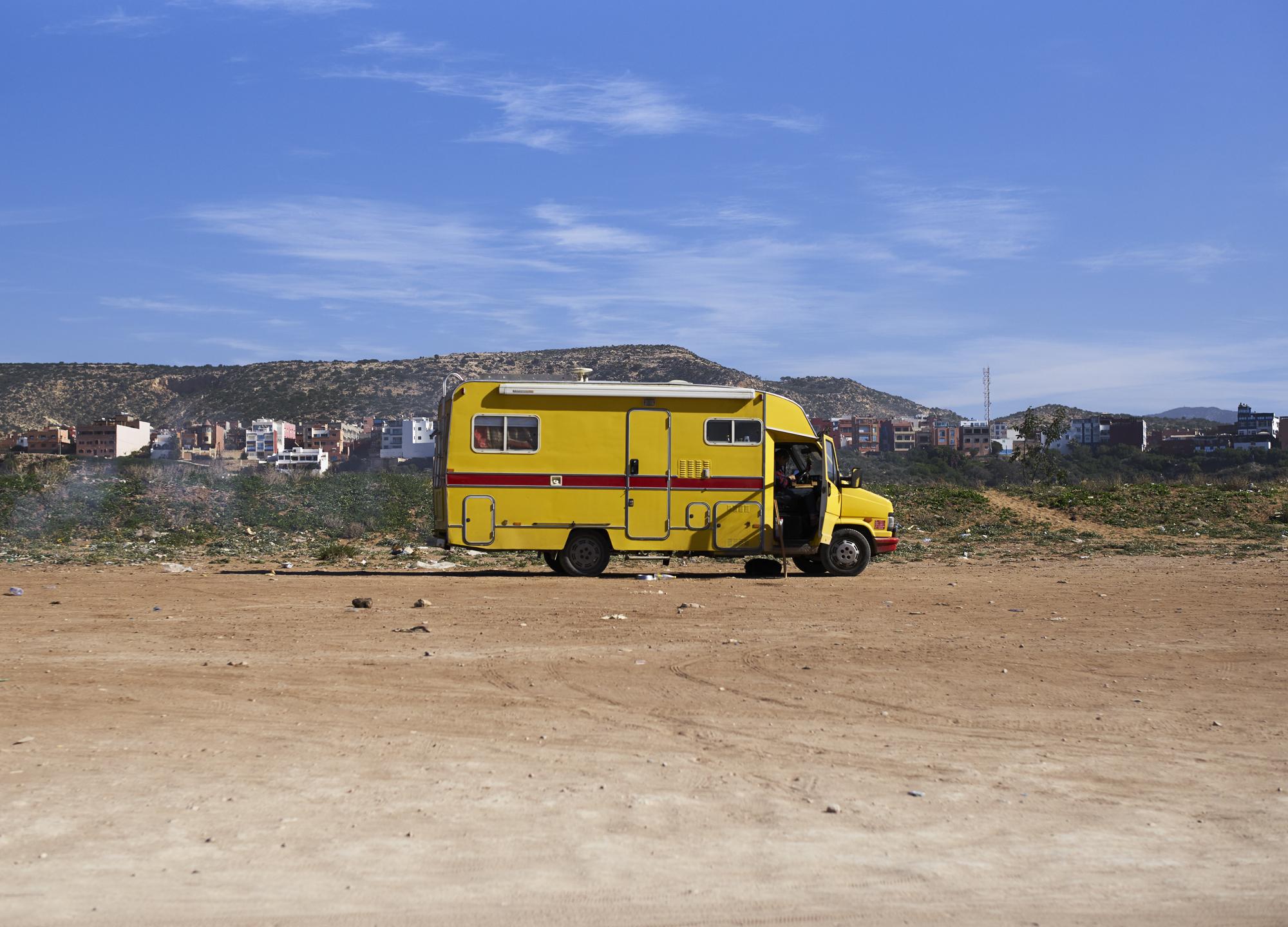 Grant Smith - Yellow van - morocco