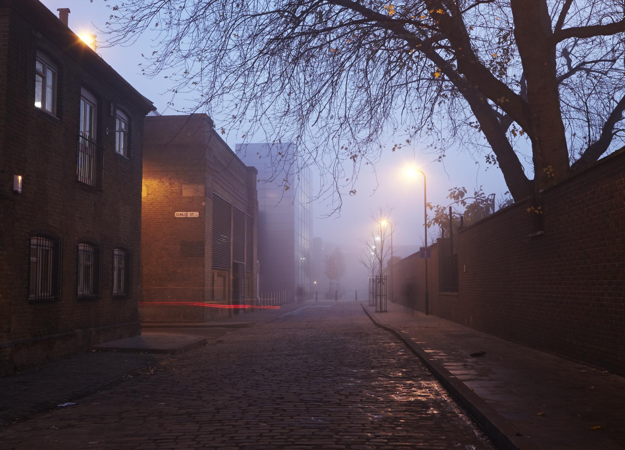 Grant Smith - Shoredich, cobbled street