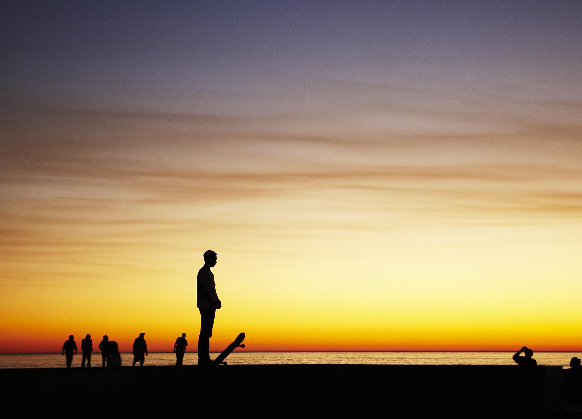 Grant Smith - Skateboarding at sunset