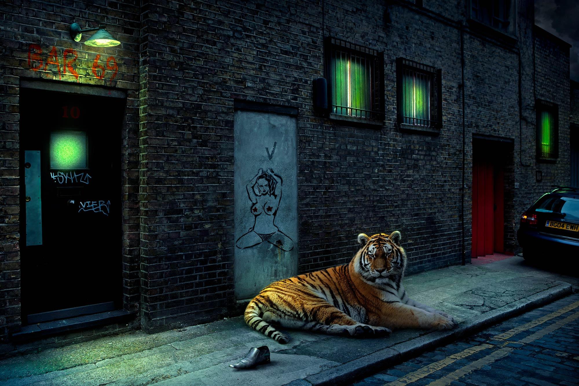Chris Clor Tiger outside club