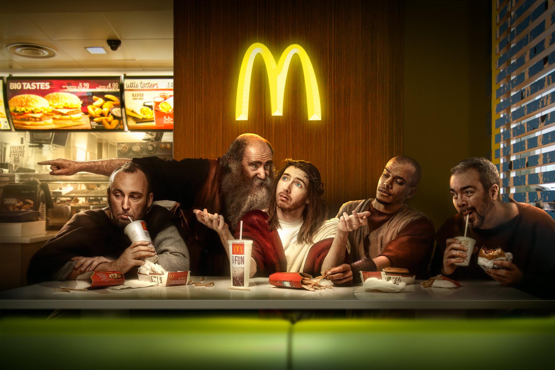 Chris Clor last Supper in MacDonalds