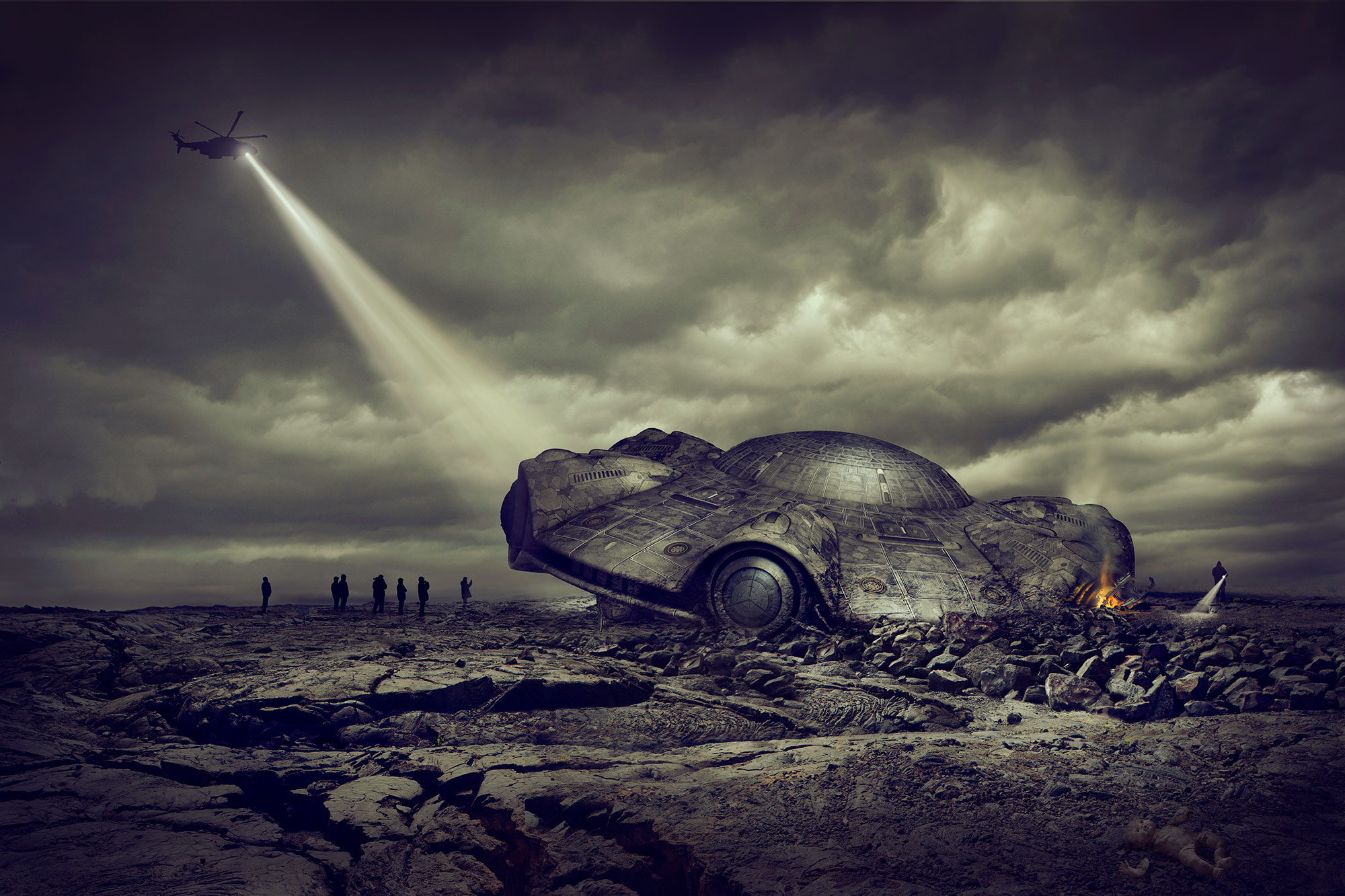Chris Clor - space ship landed