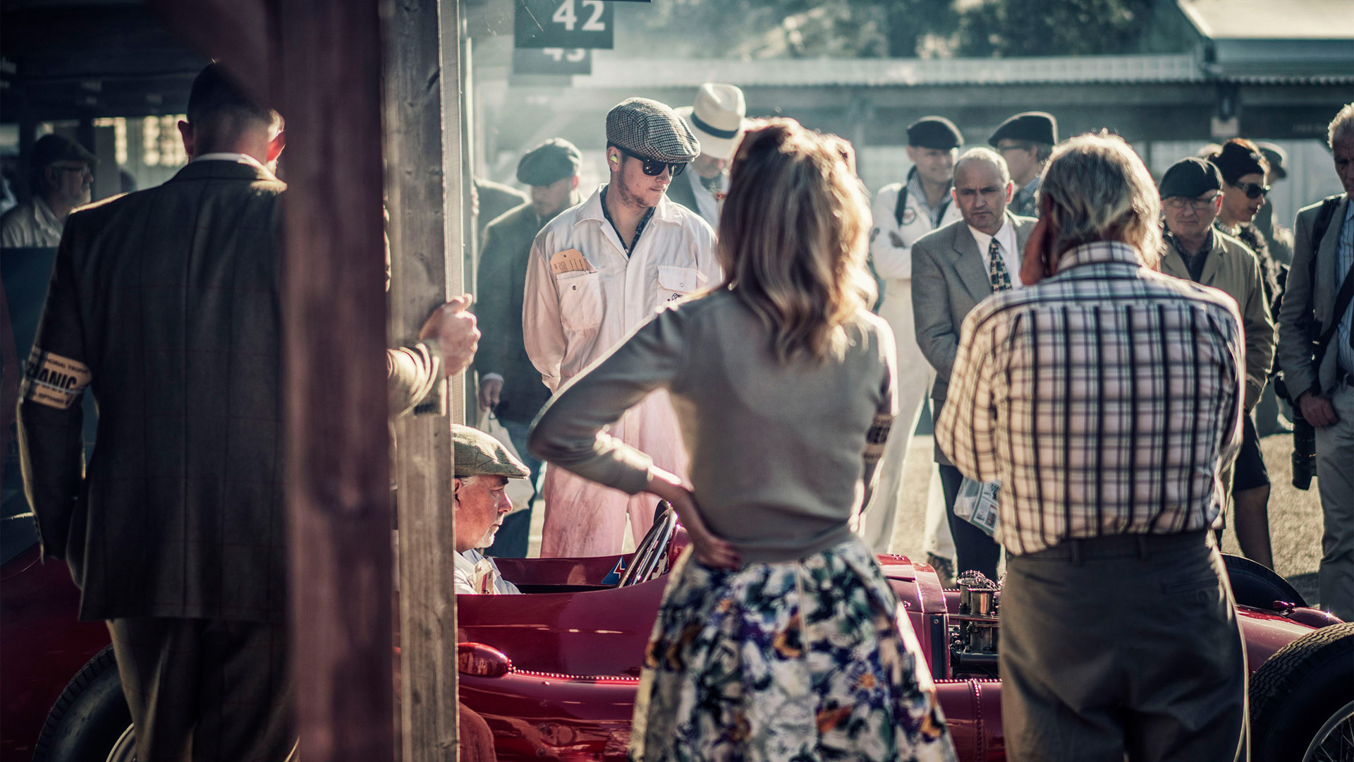 Nigel Harniman Goodwood revival ferrari pits