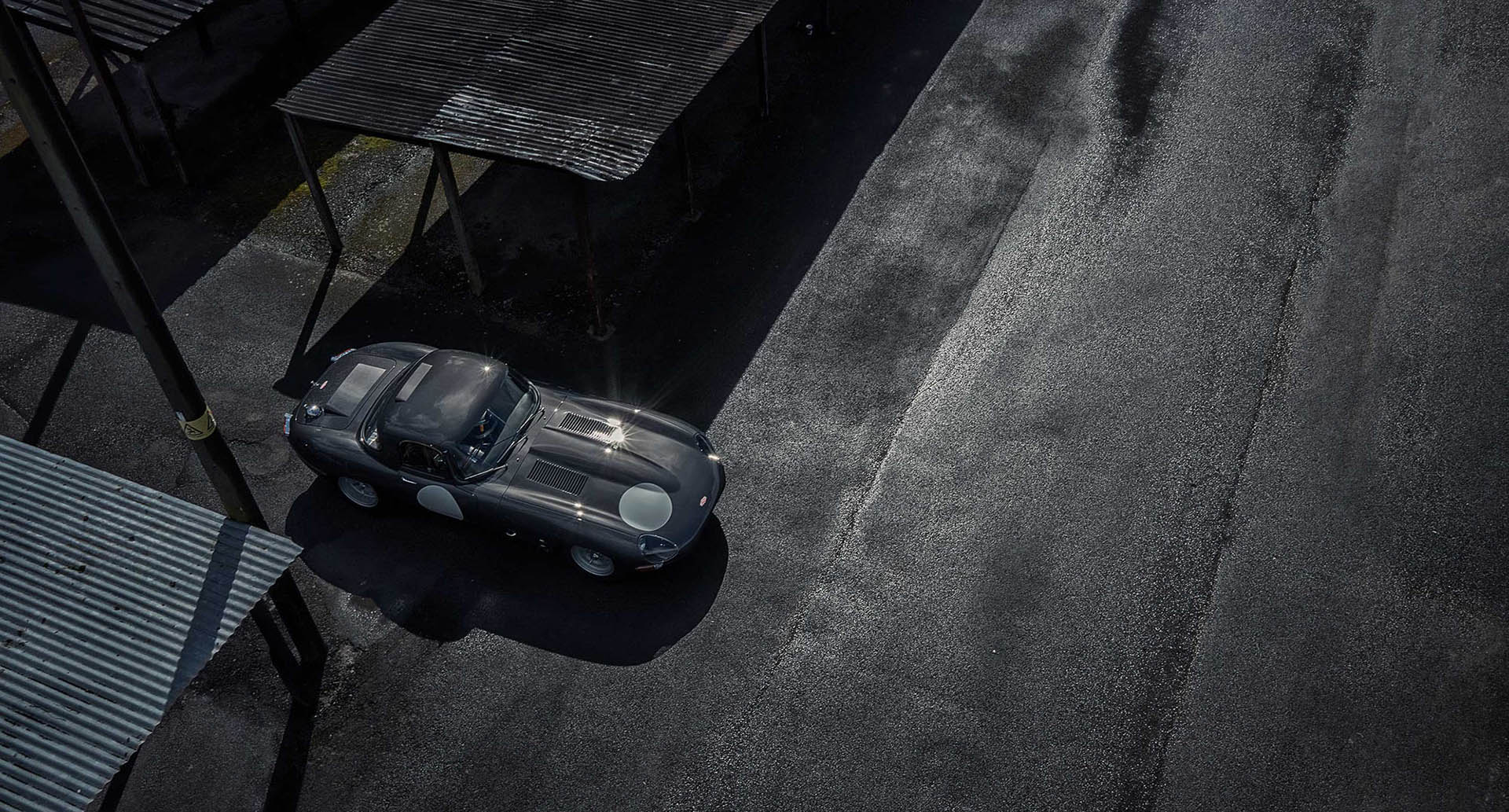 Nigel Harniman type jaguar overhead shot