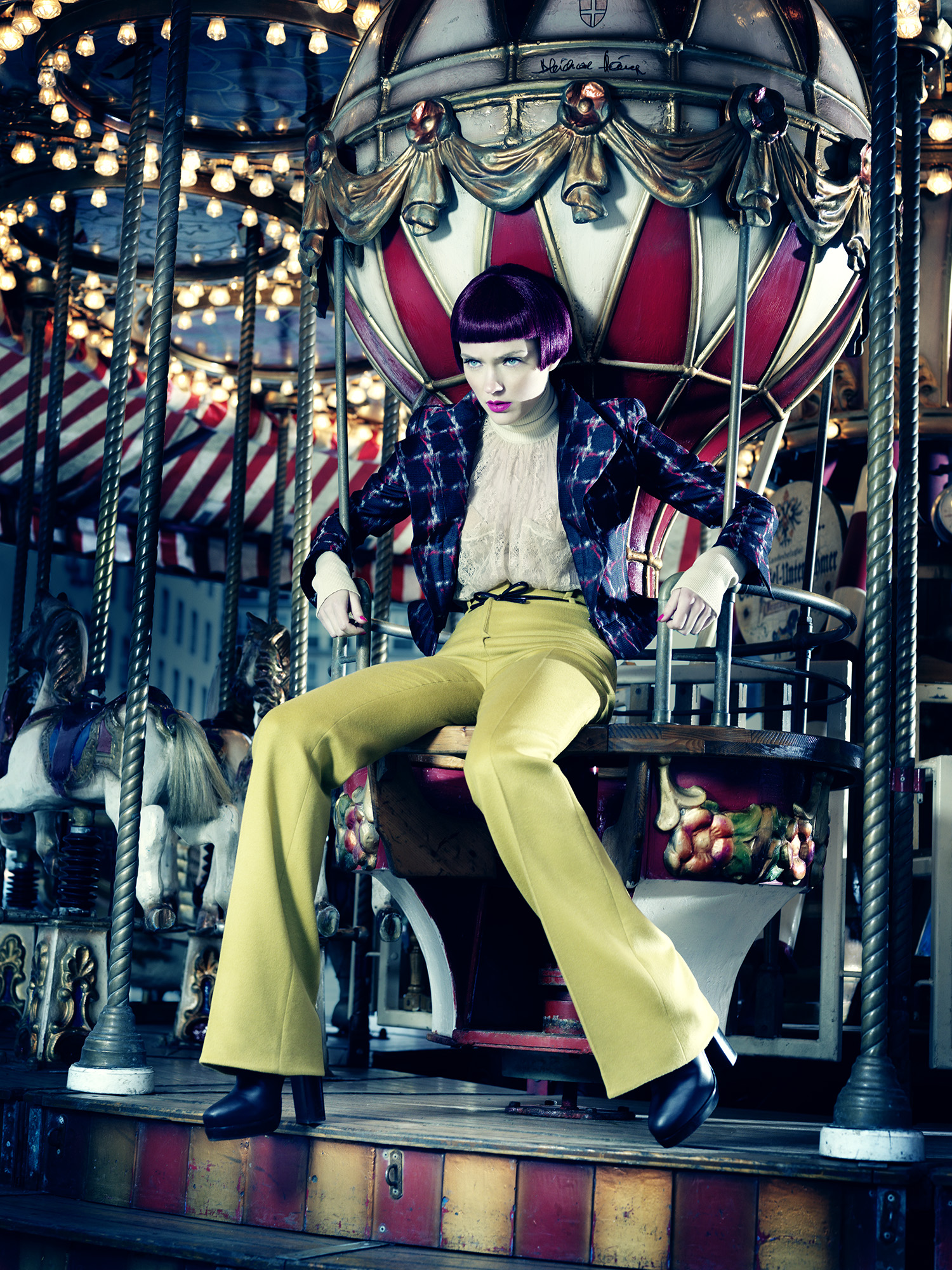 Anatol de Cap Rouge - merrygoround - lime green trousers