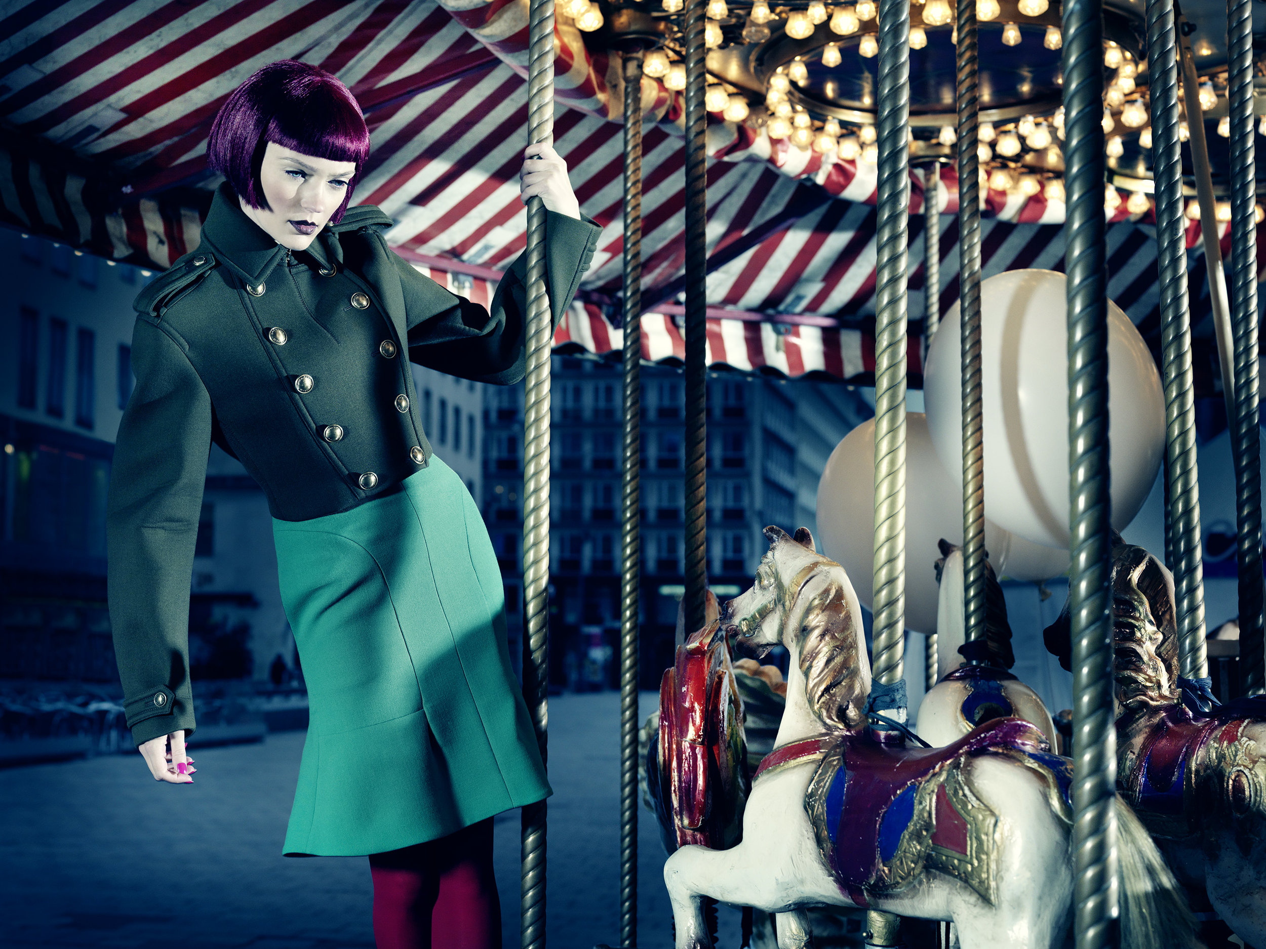 Anatol de Cap Rouge - Merry go round - blue skirt