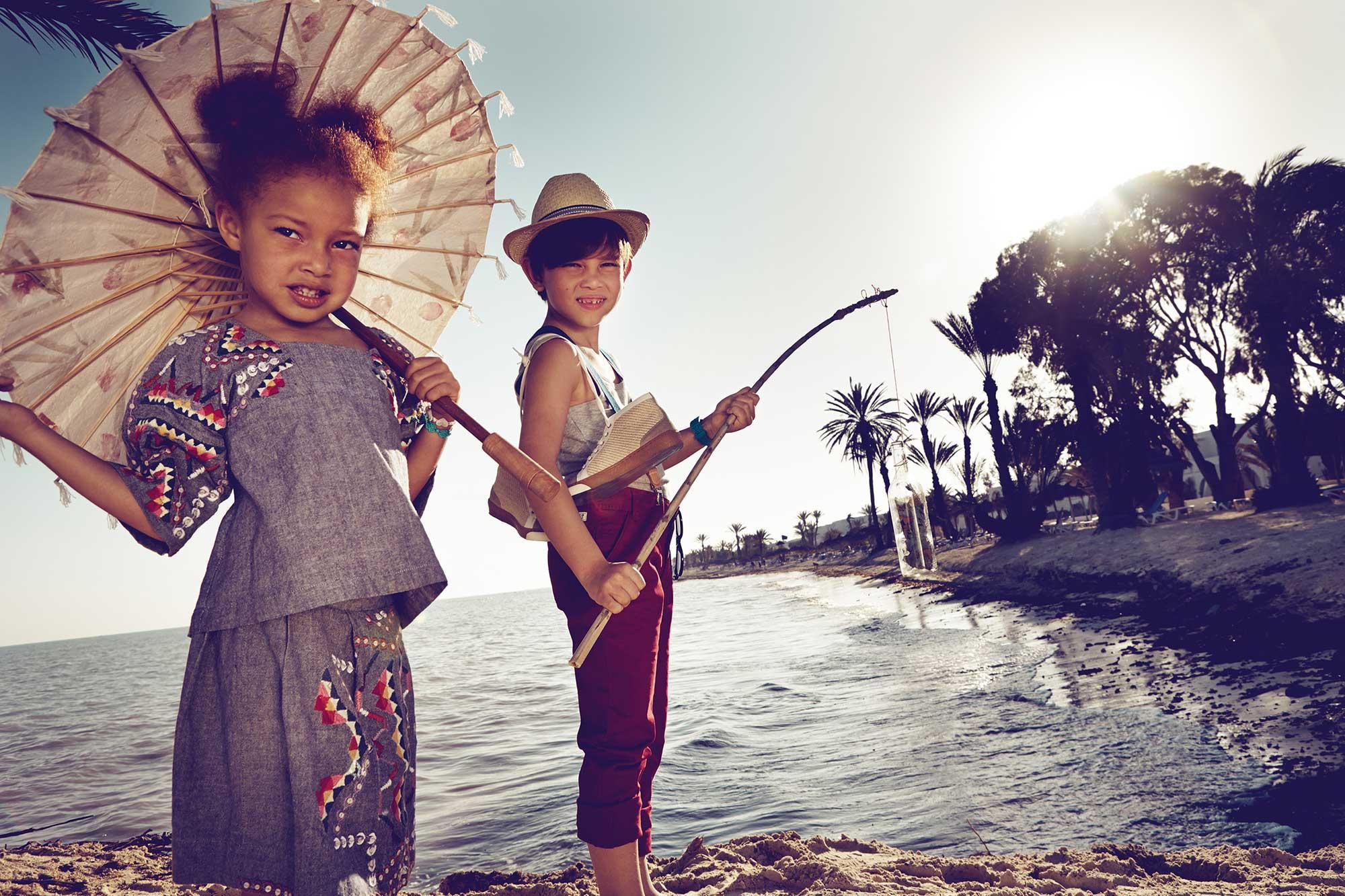 Ilvie Little Kids on Beach
