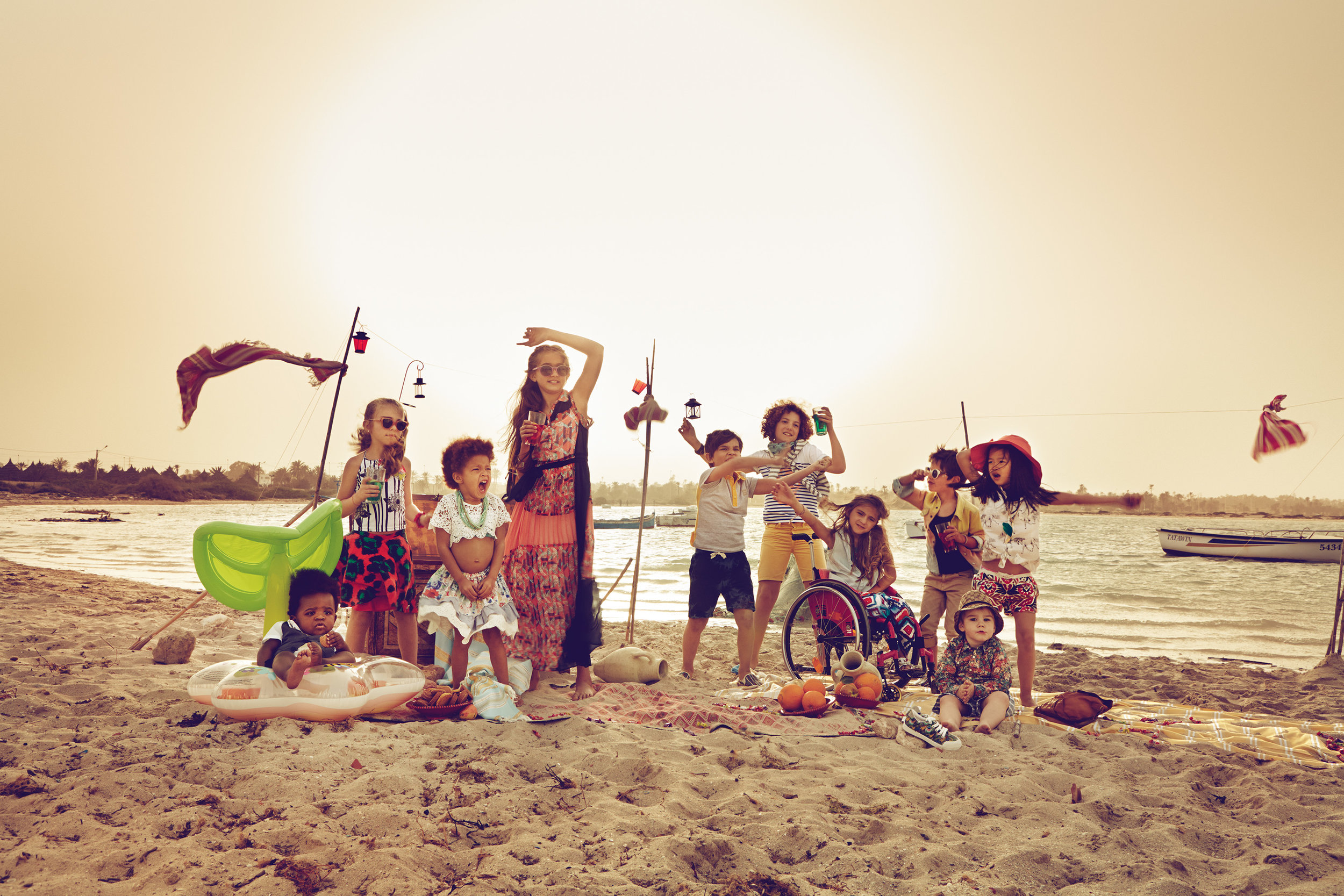 Ilve Little Children on beach