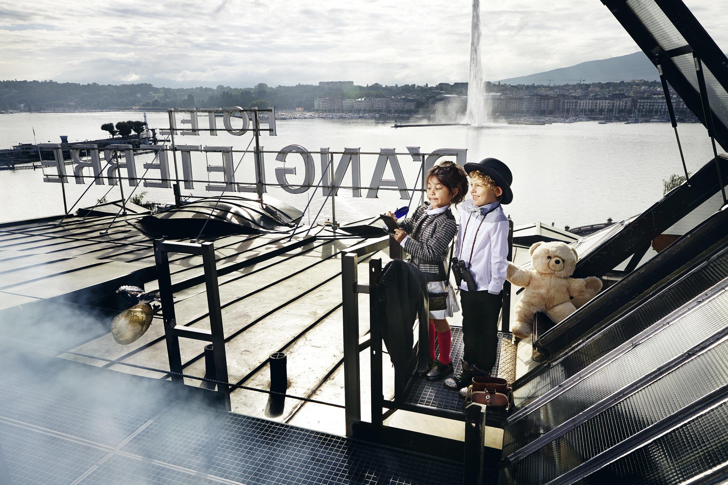 Ilve Little kids on deck