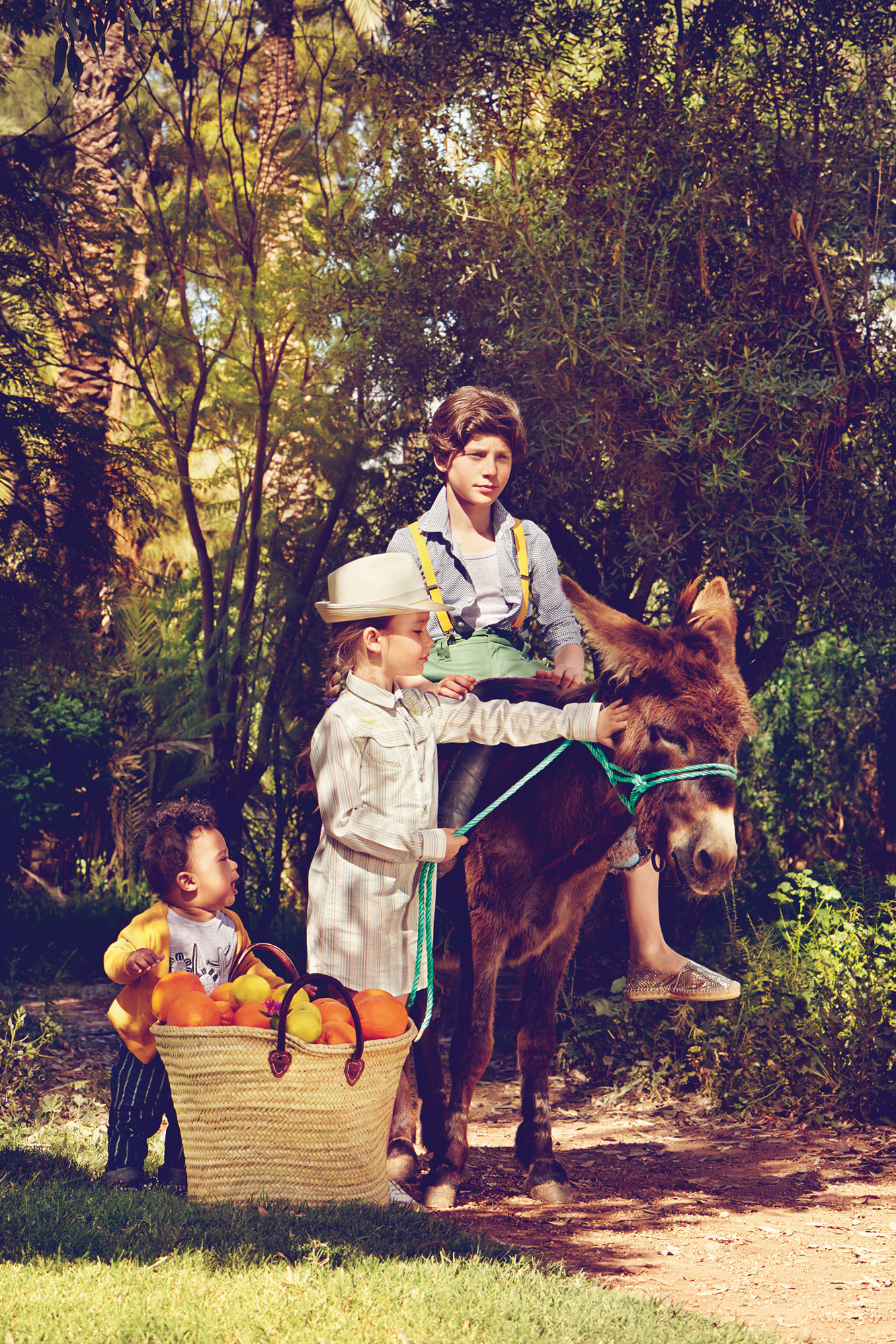 Ilve Little - boy on donkey