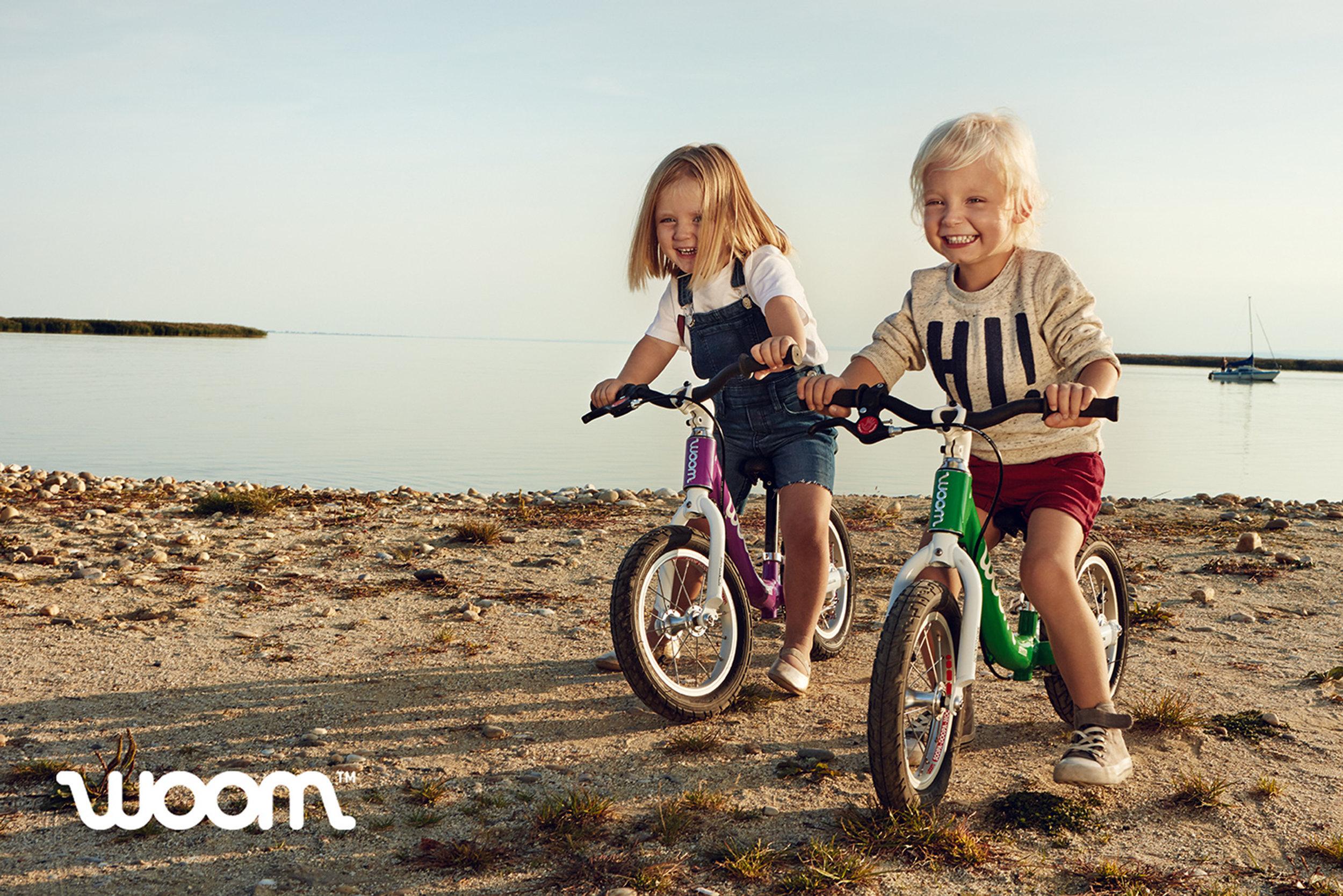 Ilve Little small children on bikes on beach