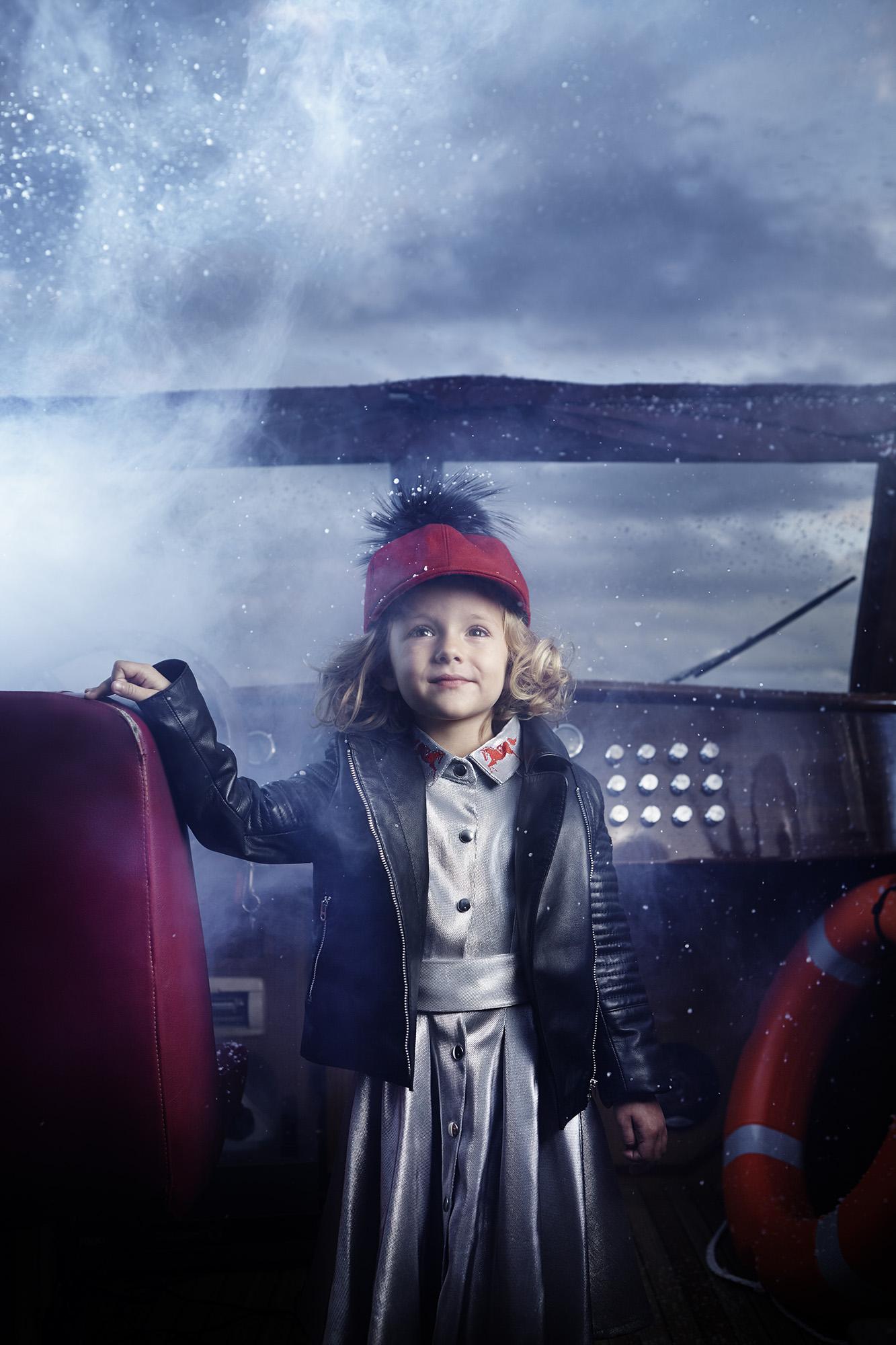 Ilve Little little girl on board boat