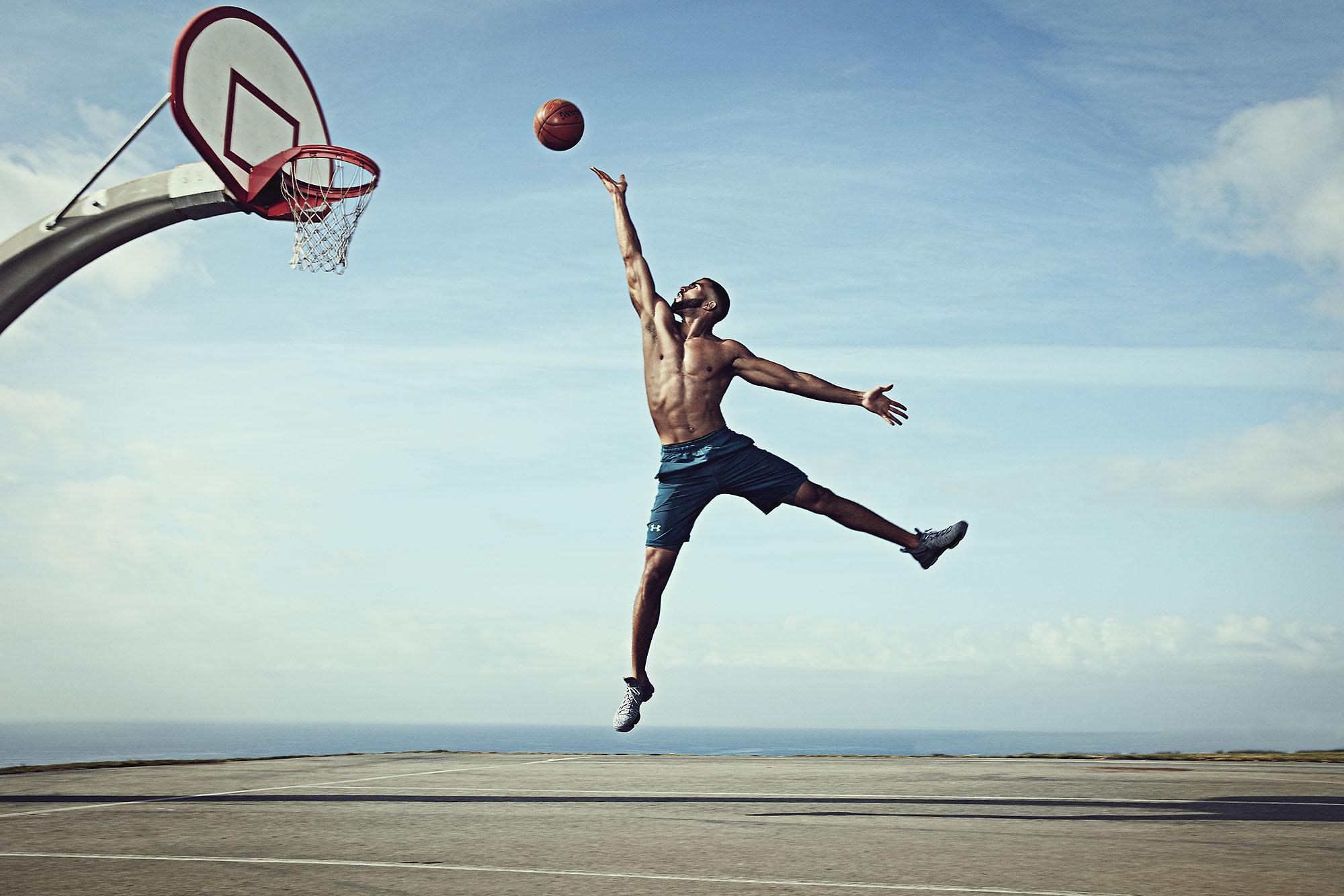 Karan Kapoor basketball on beach