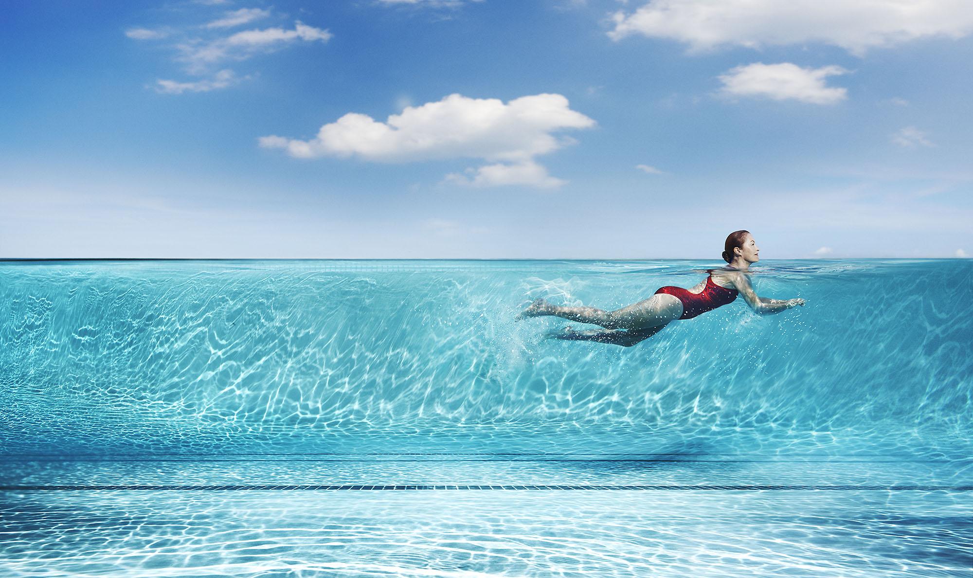 Karan Kapor profile of girl swimming
