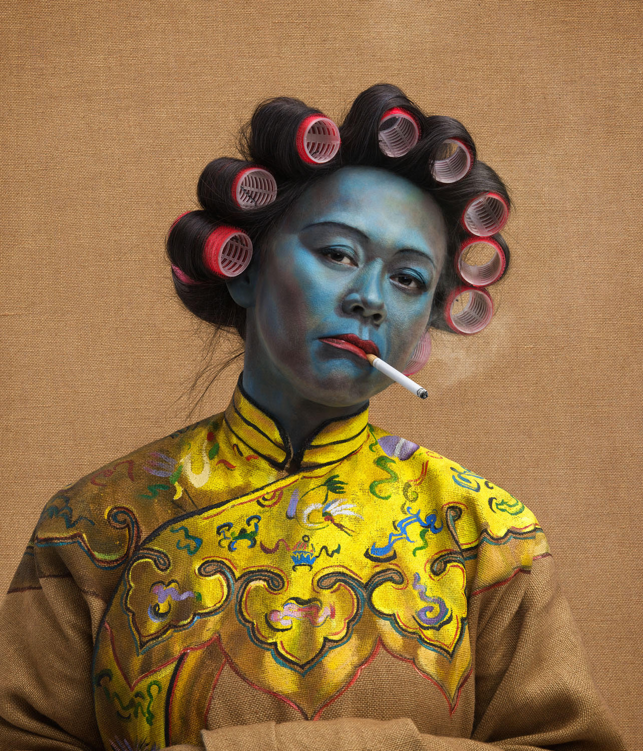 Joe Giacomet - Chinese Girl in hair curlers