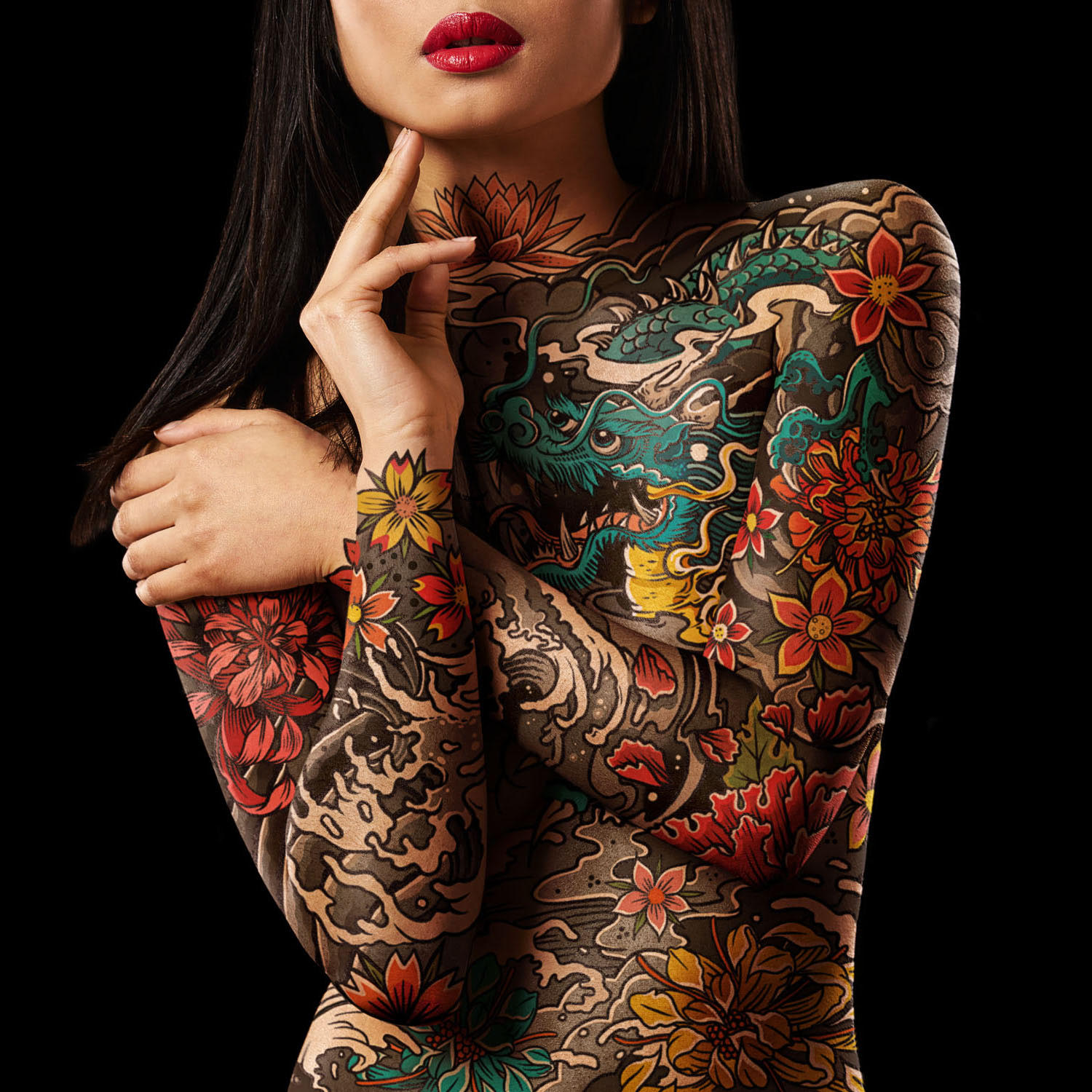 Joe Giacomet tattoo girl thinking