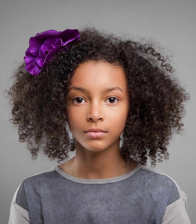 Tim Platt - girl with purple ribbon
