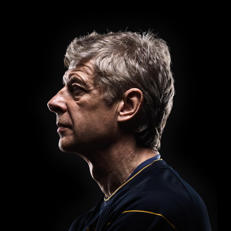Tim Platt - portrait of Arsene Wenger