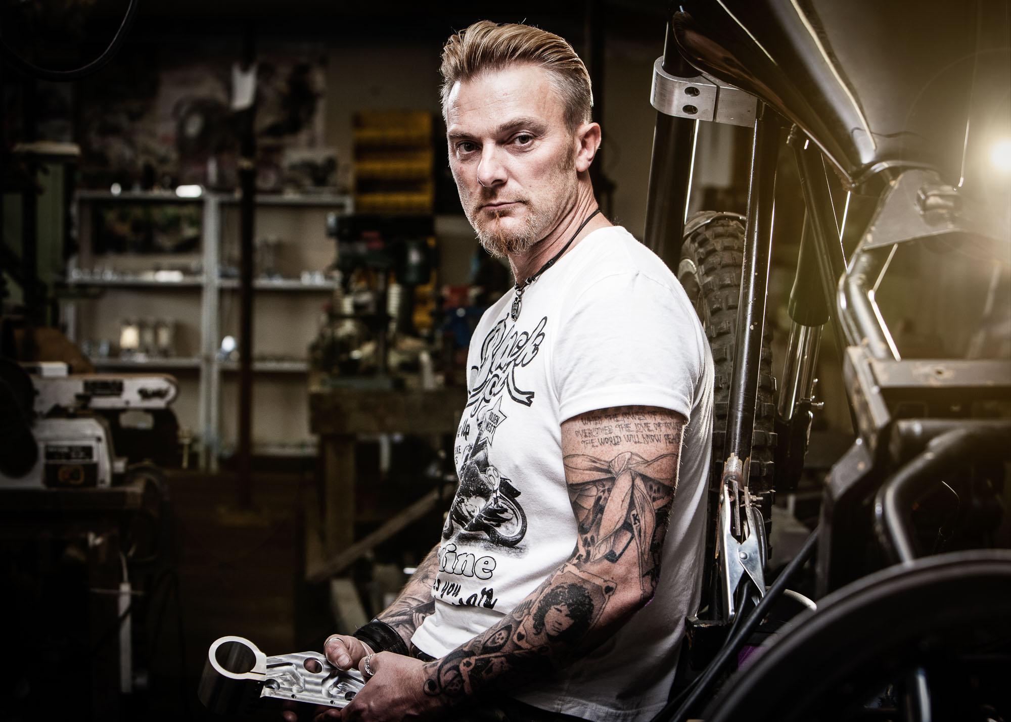 Tim Platt - Portrait of man in work studio