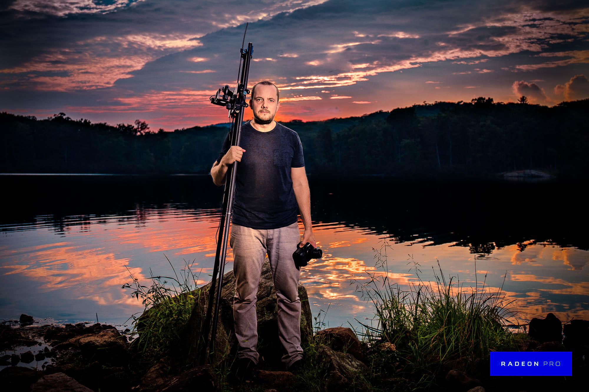 Tim Platt - Landscape with fisherman
