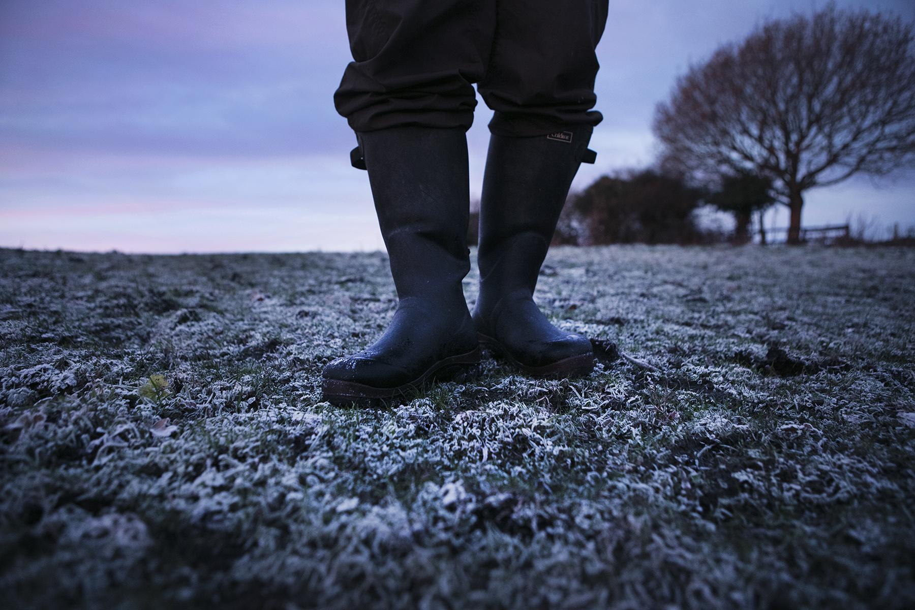 Dan Prince - Wellington boots in field