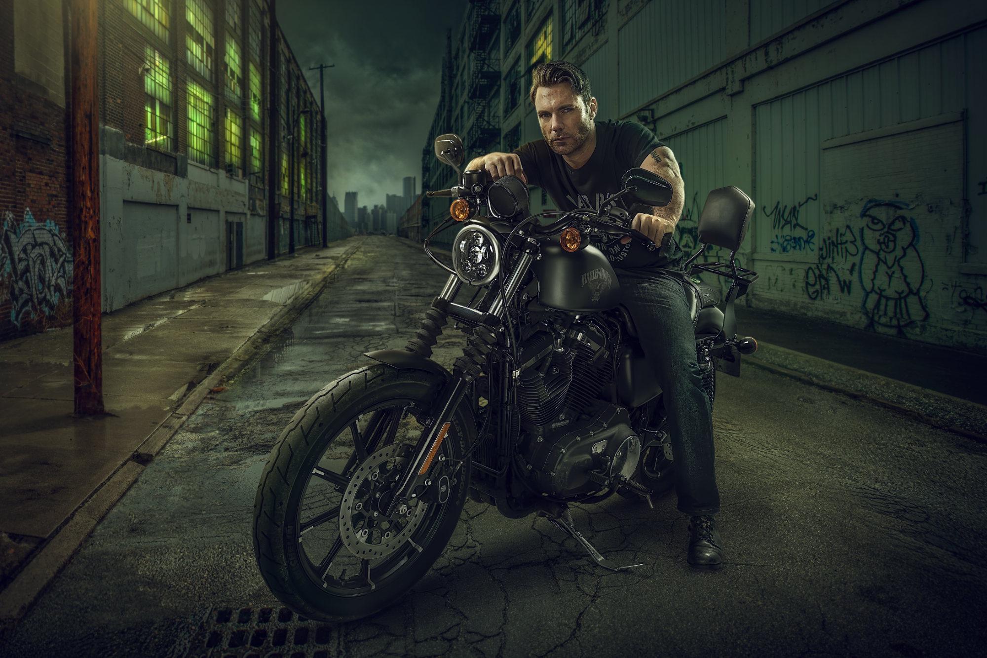 Chris Clor - guy on Harley Davidson