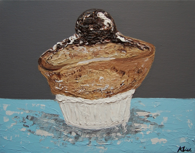 Souffle with chocolate ice cream Alice Straker.jpg