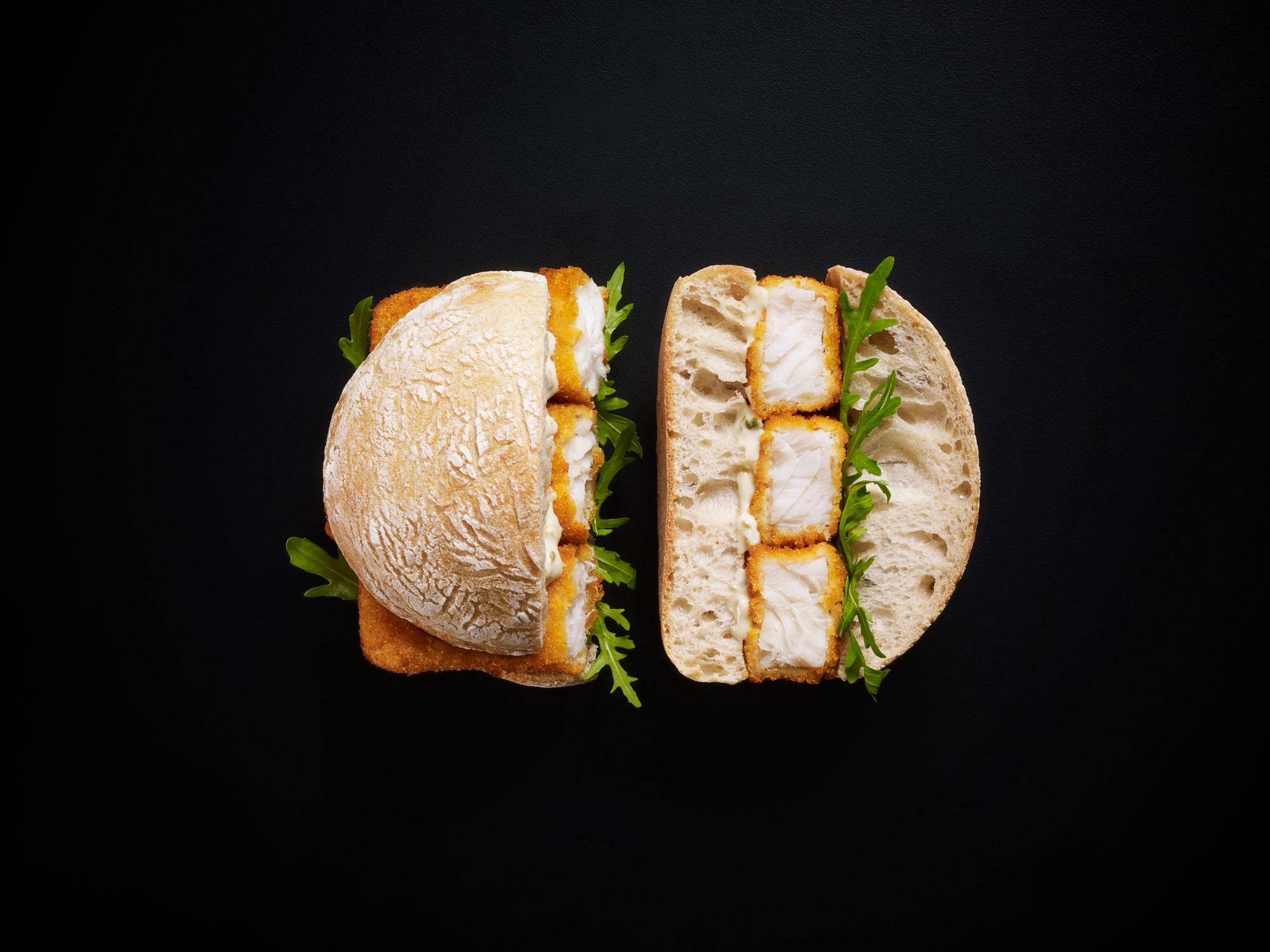 Stuart West - fishfinger sandwich