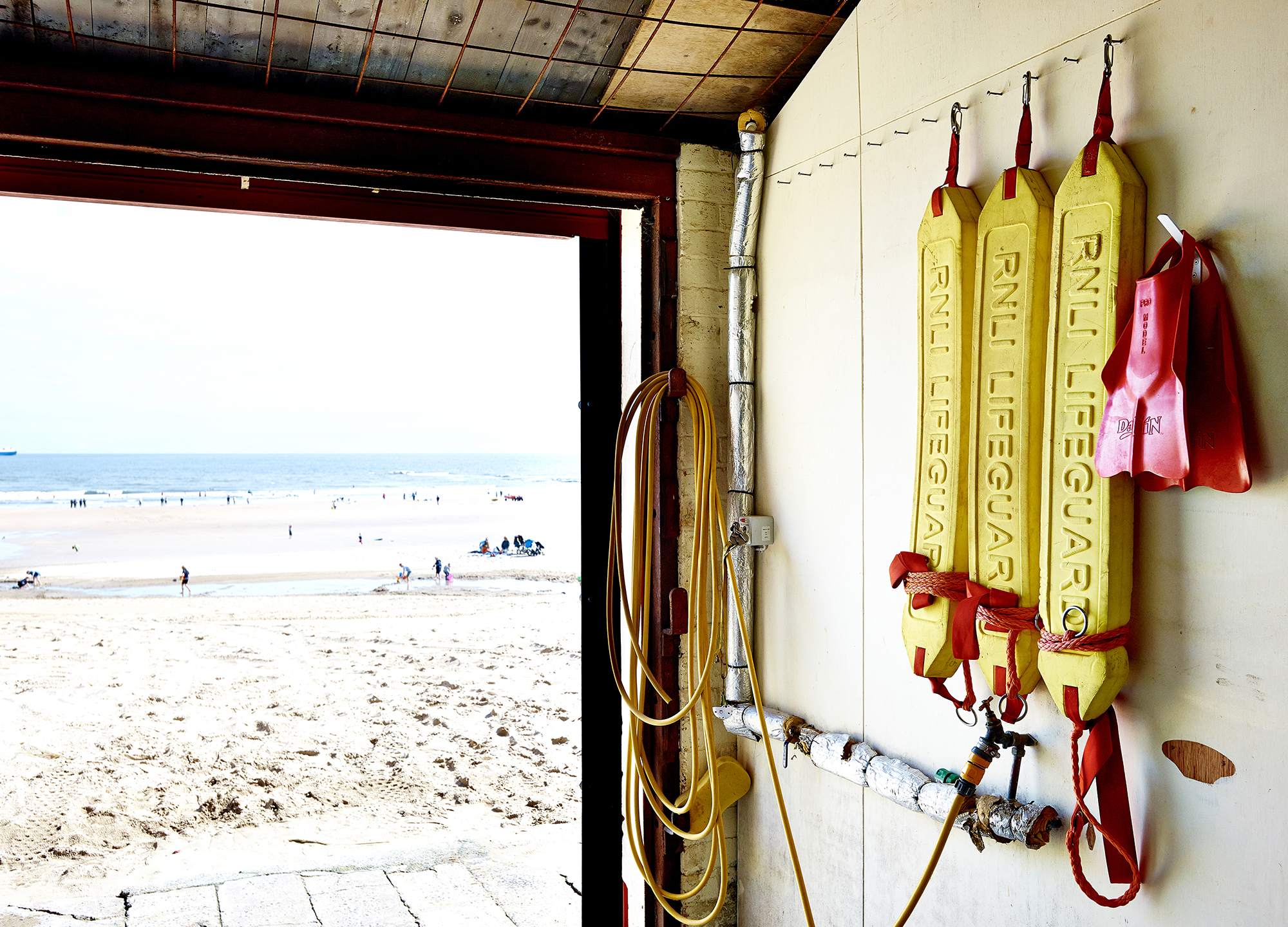 John Donoghue - lifeguard shed