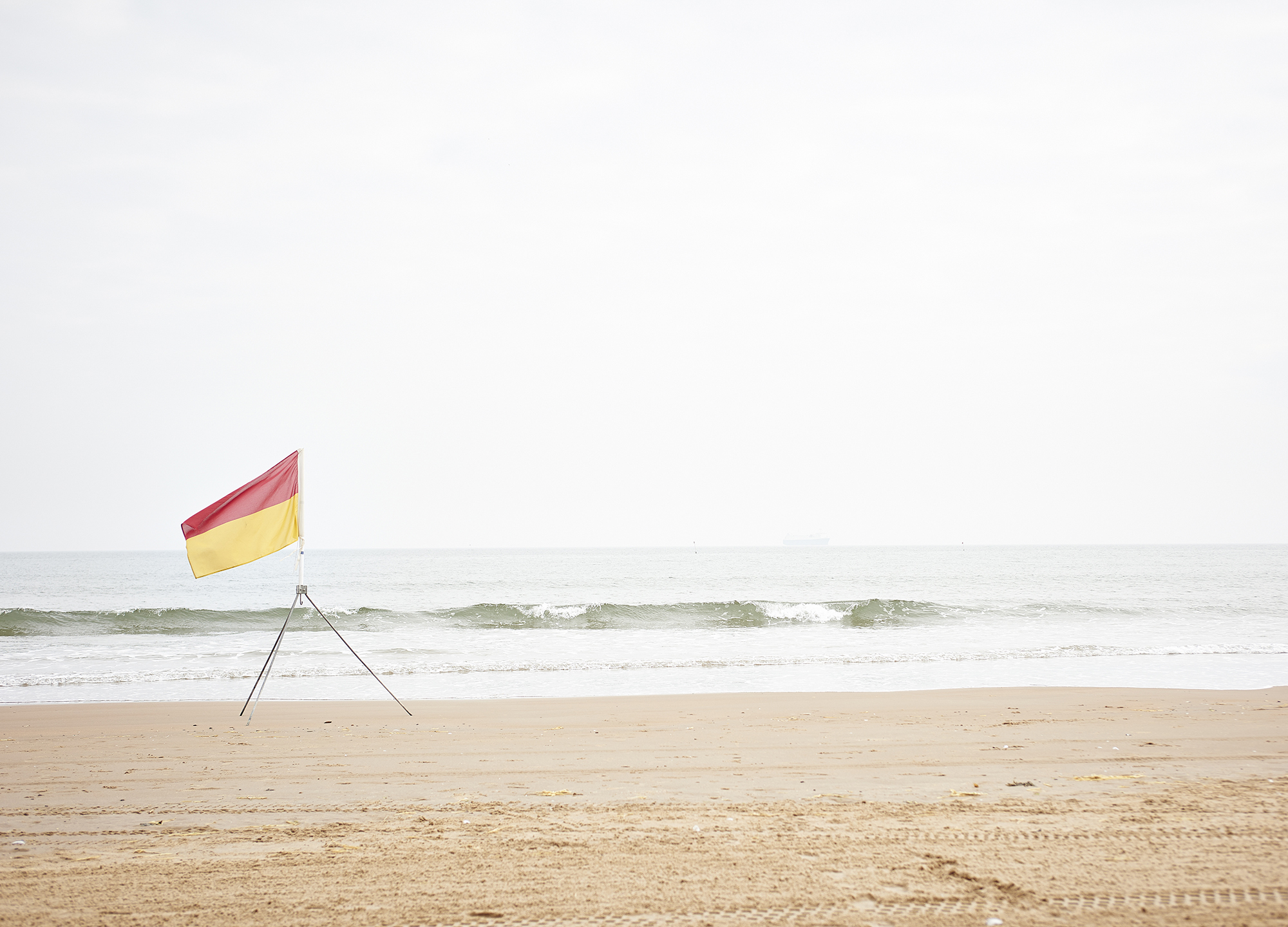 John Donogue - flag on beach