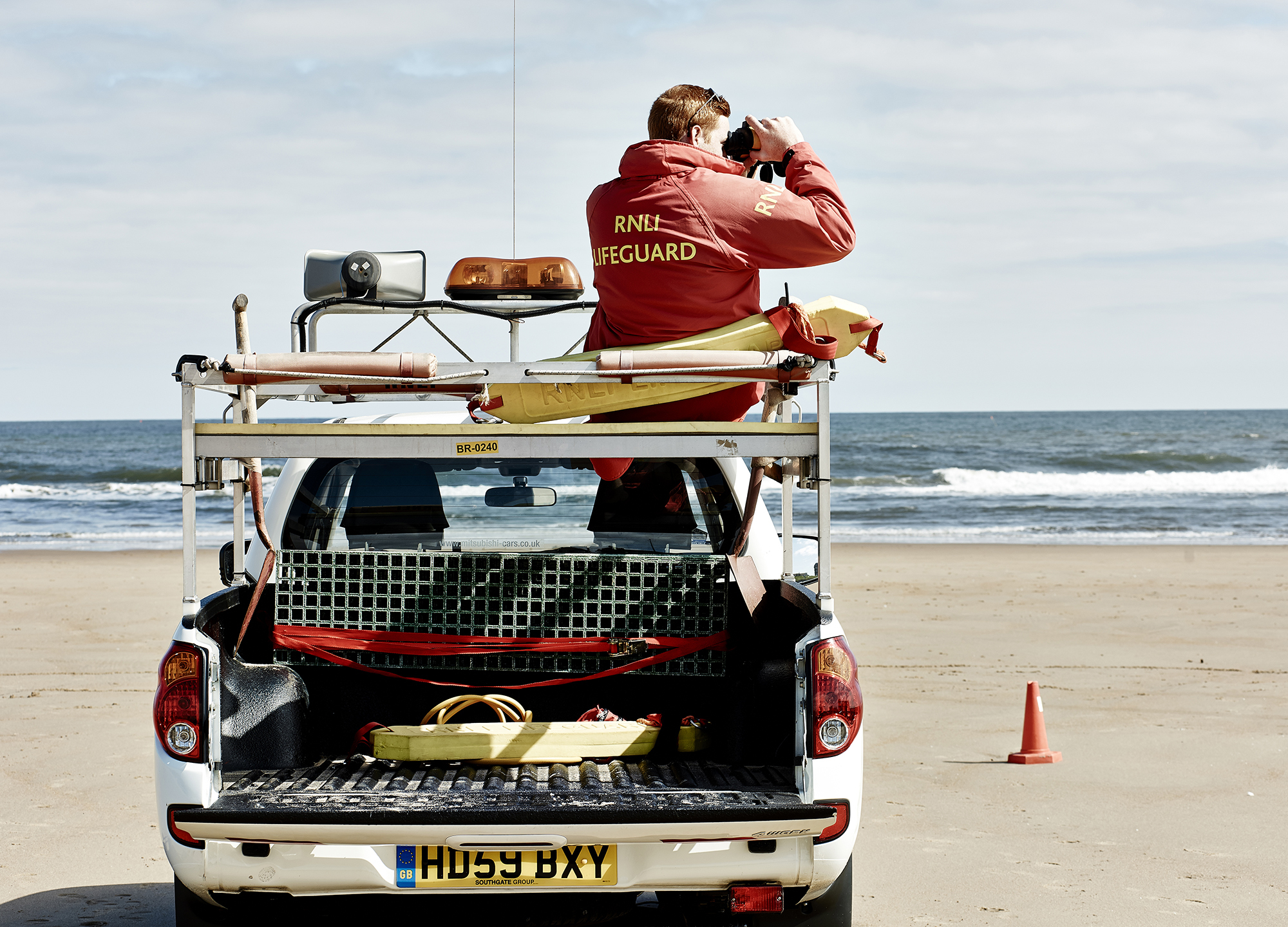 John Donoghue - lookout on beach lifeguards