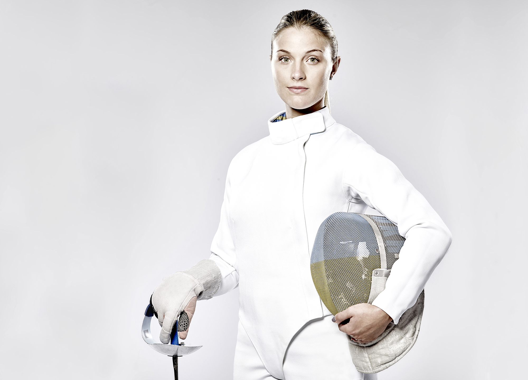 John Donoghue - portrait of fencer