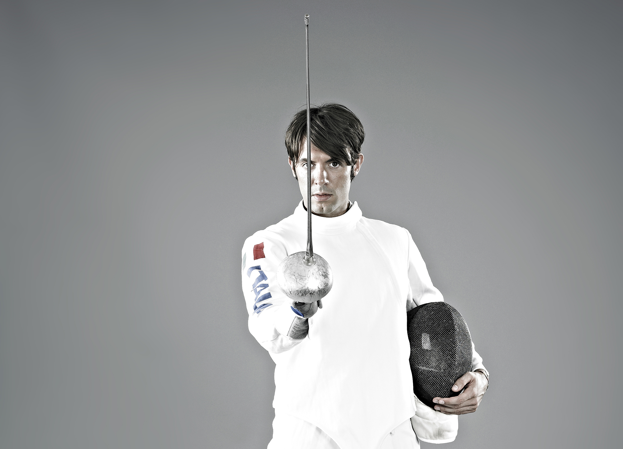 John Donoghue - portrait of male fencer