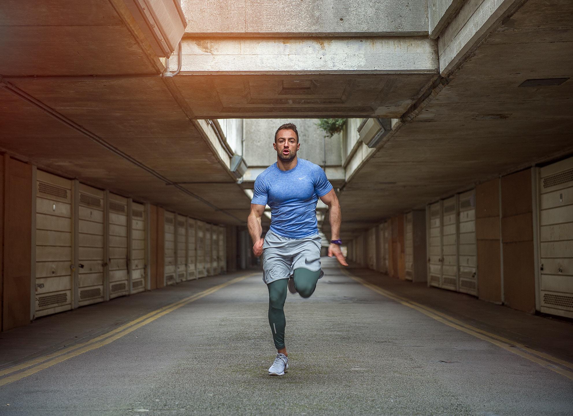 Dean Northcott - guy running in urban city