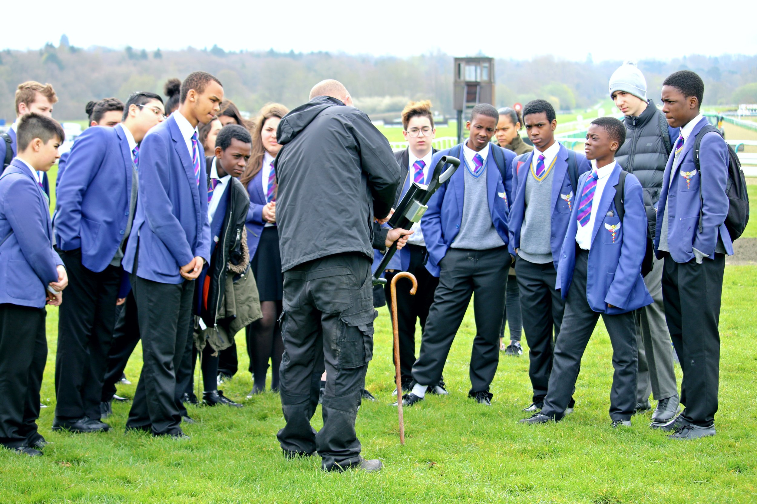 Lambeth group visit Lingfield Park to learn about careers at the resort