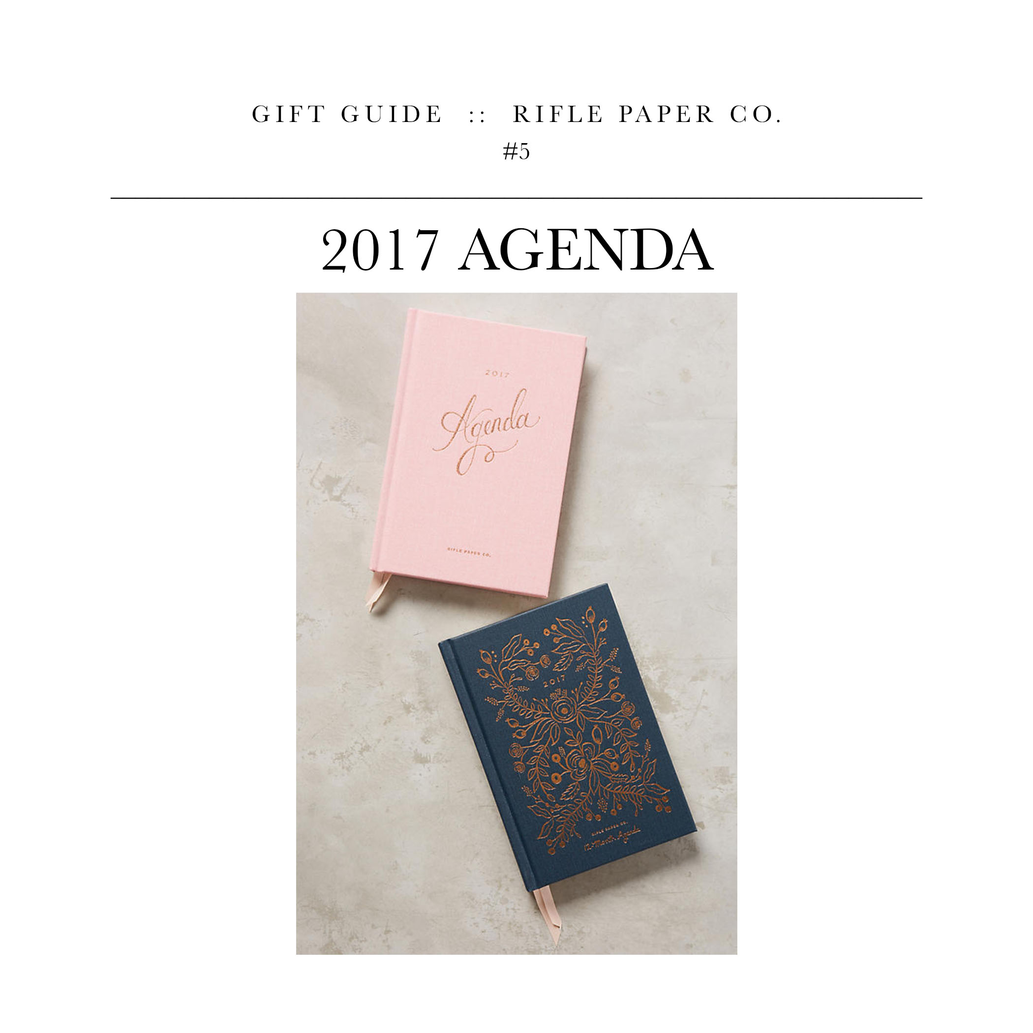 2017 Agenda  via Rifle Paper Co. //  A gift for the workstation.