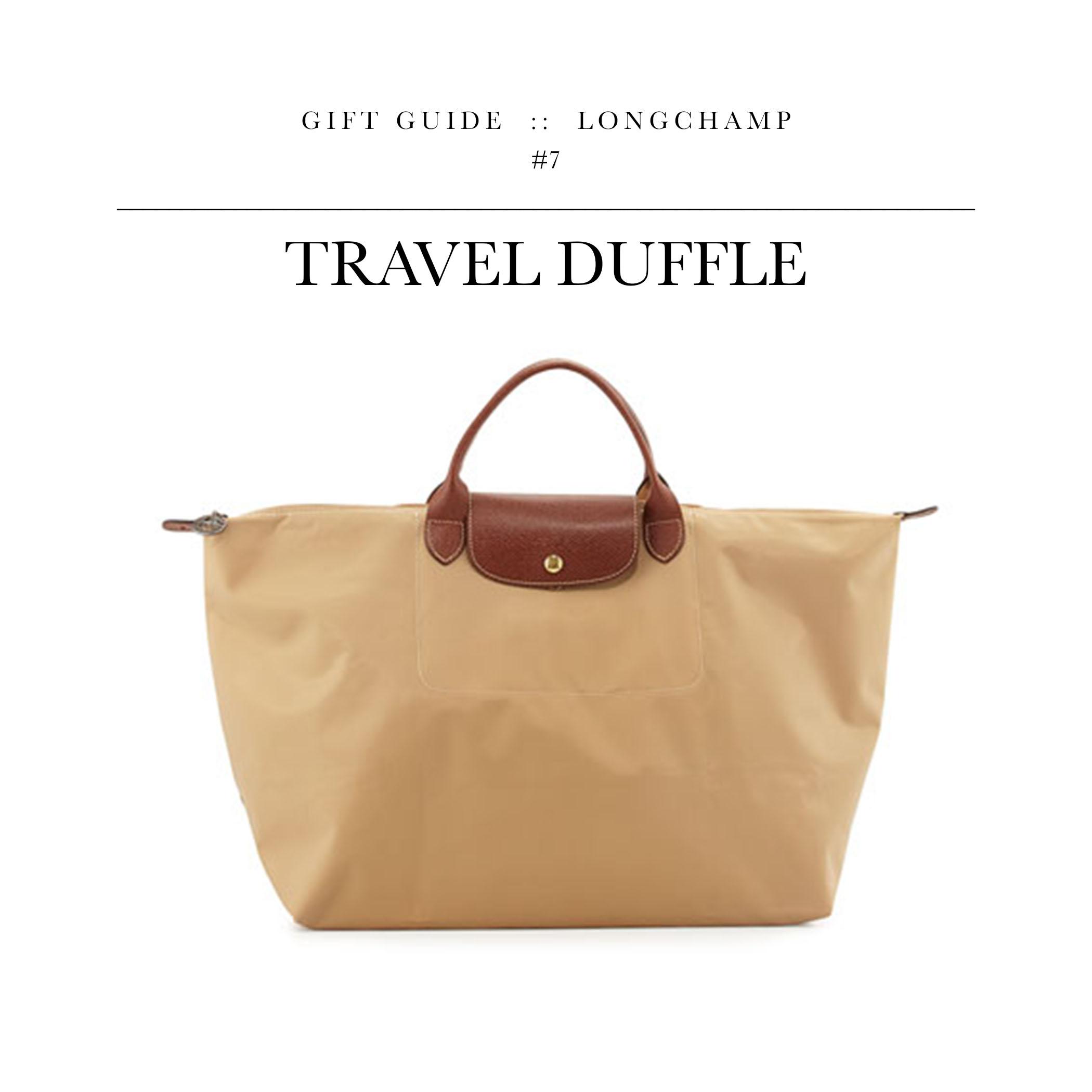 Travel Duffle  via Longchamp //A weekender that won't murder your bank account.
