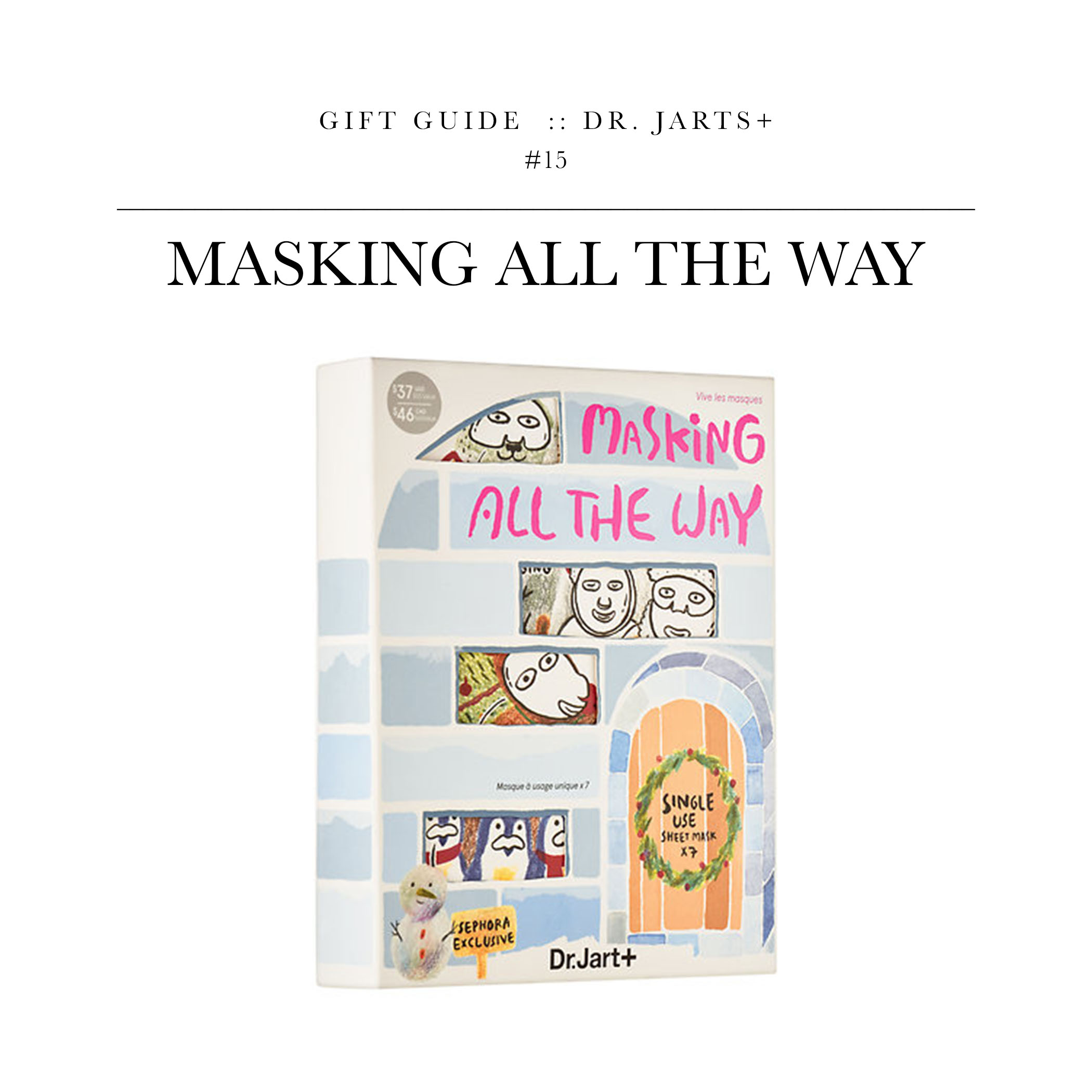 """Masking All The Way  via Dr. Jarts+ //I'm just going to go ahead and say """"You're welcome"""" to whomever buy this. It's a collection of face masks that all have a different purpose/focus."""