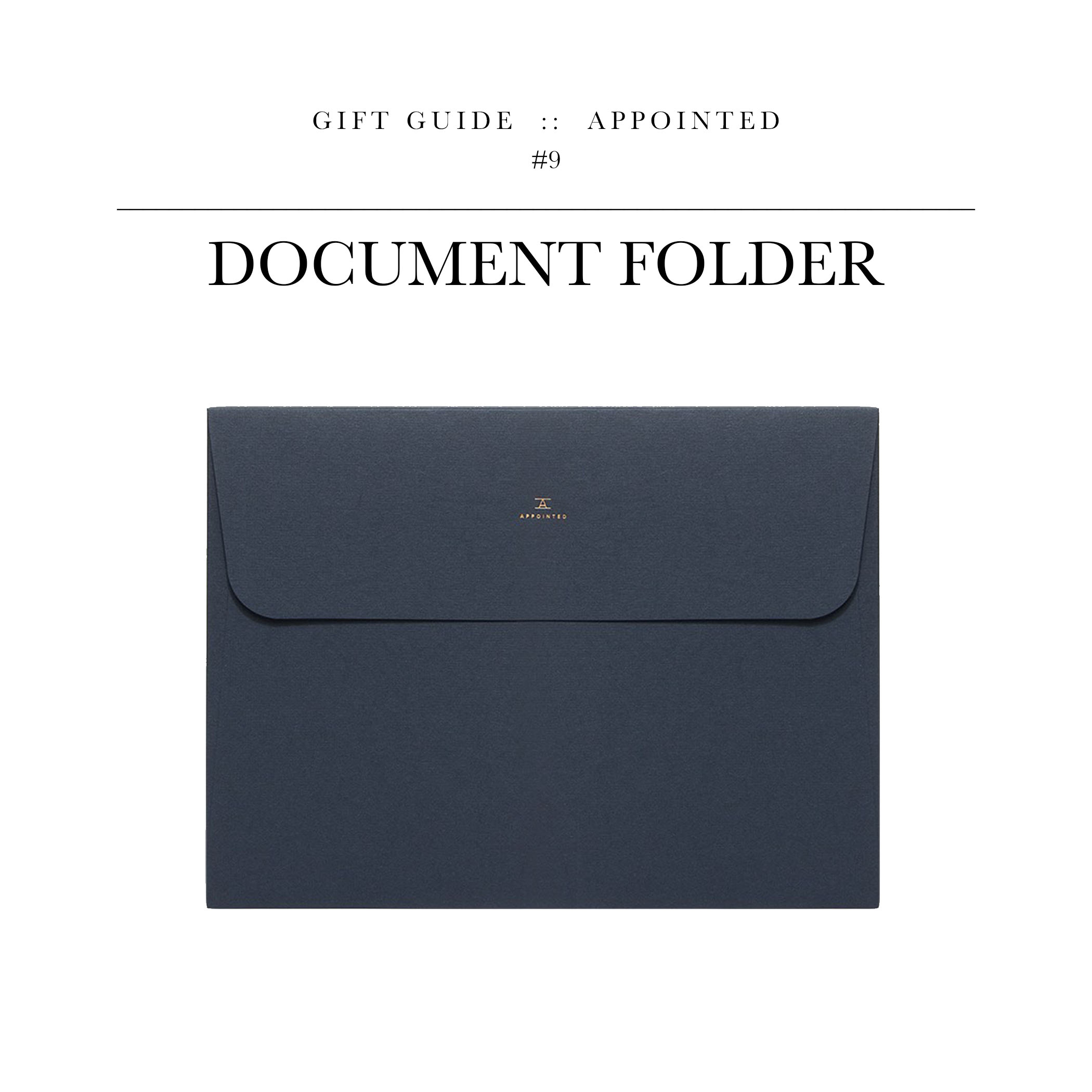 """Document Folder via Appointed // For the neurotic, neat-freak who considers """"organizing"""" to be relaxing. Looks like I just described myself with this one."""