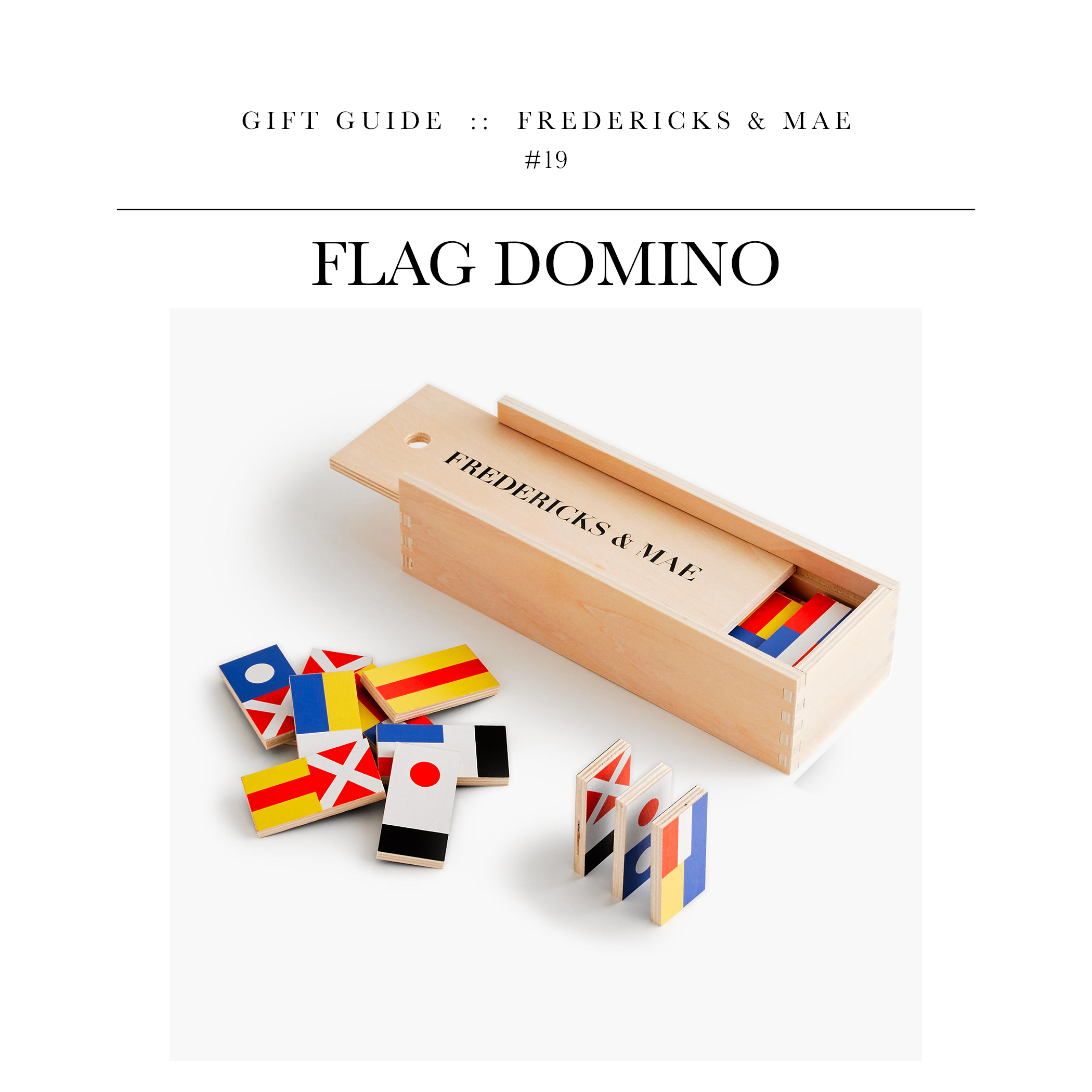 Flag Domino  via Fredericks & Mae // A fun gift for the guy who likes to game.