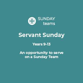 Servant Sunday
