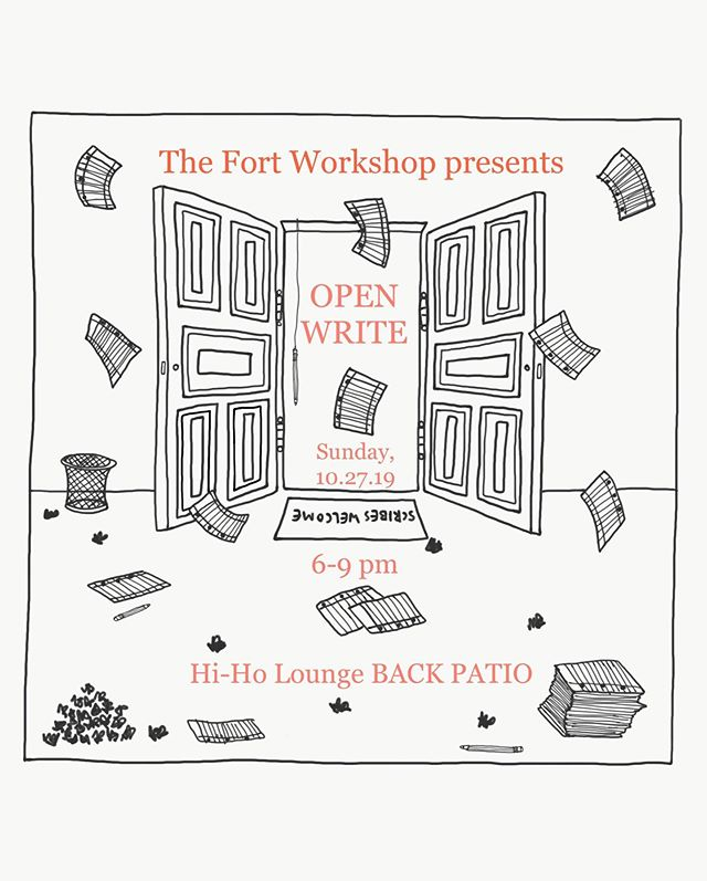Let's write New Orleans! This Sunday @ 6